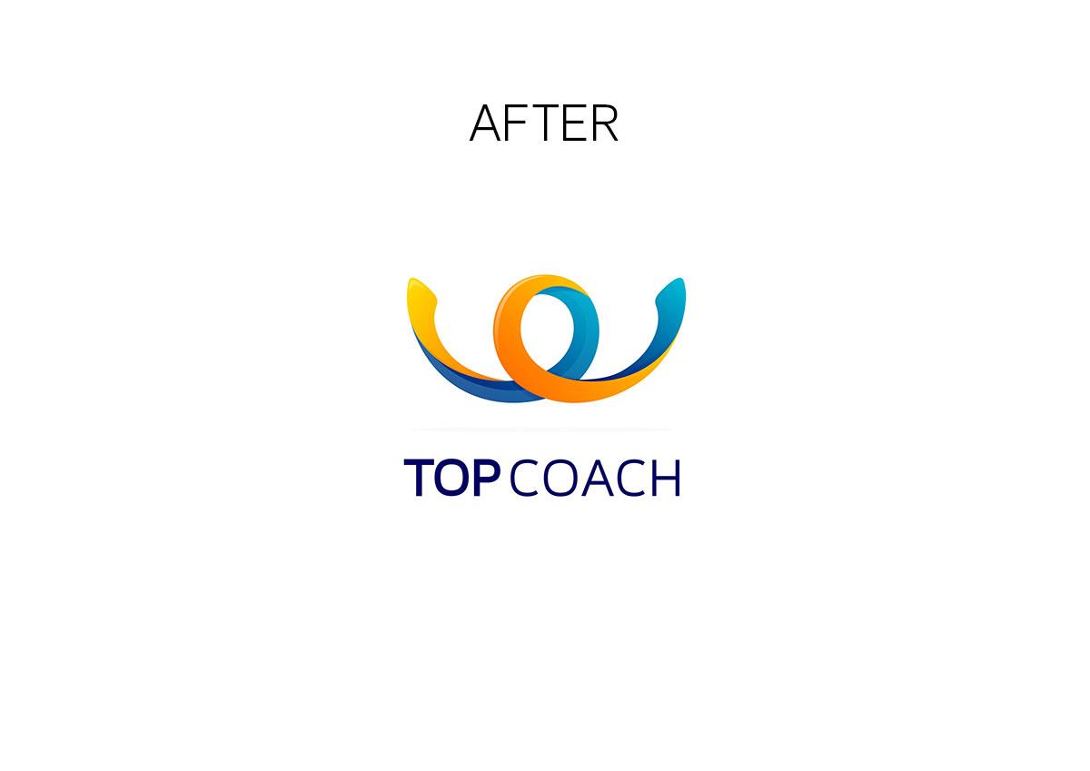 topcoach logo branding by inoveo