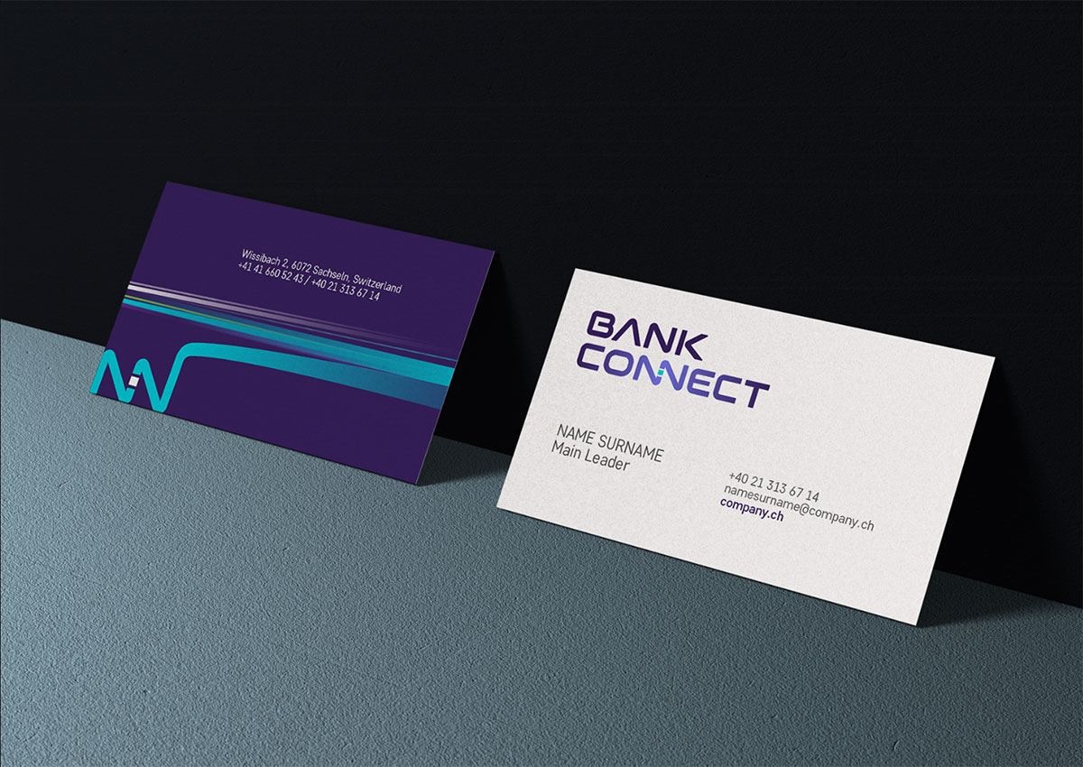 bank connect carte vizita brand