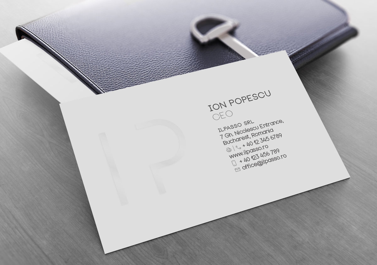 ilpasso stationery materials carte vizita