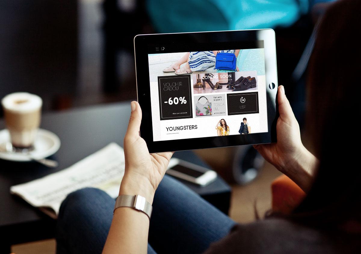 ilpasso rebranding webdesign tablet