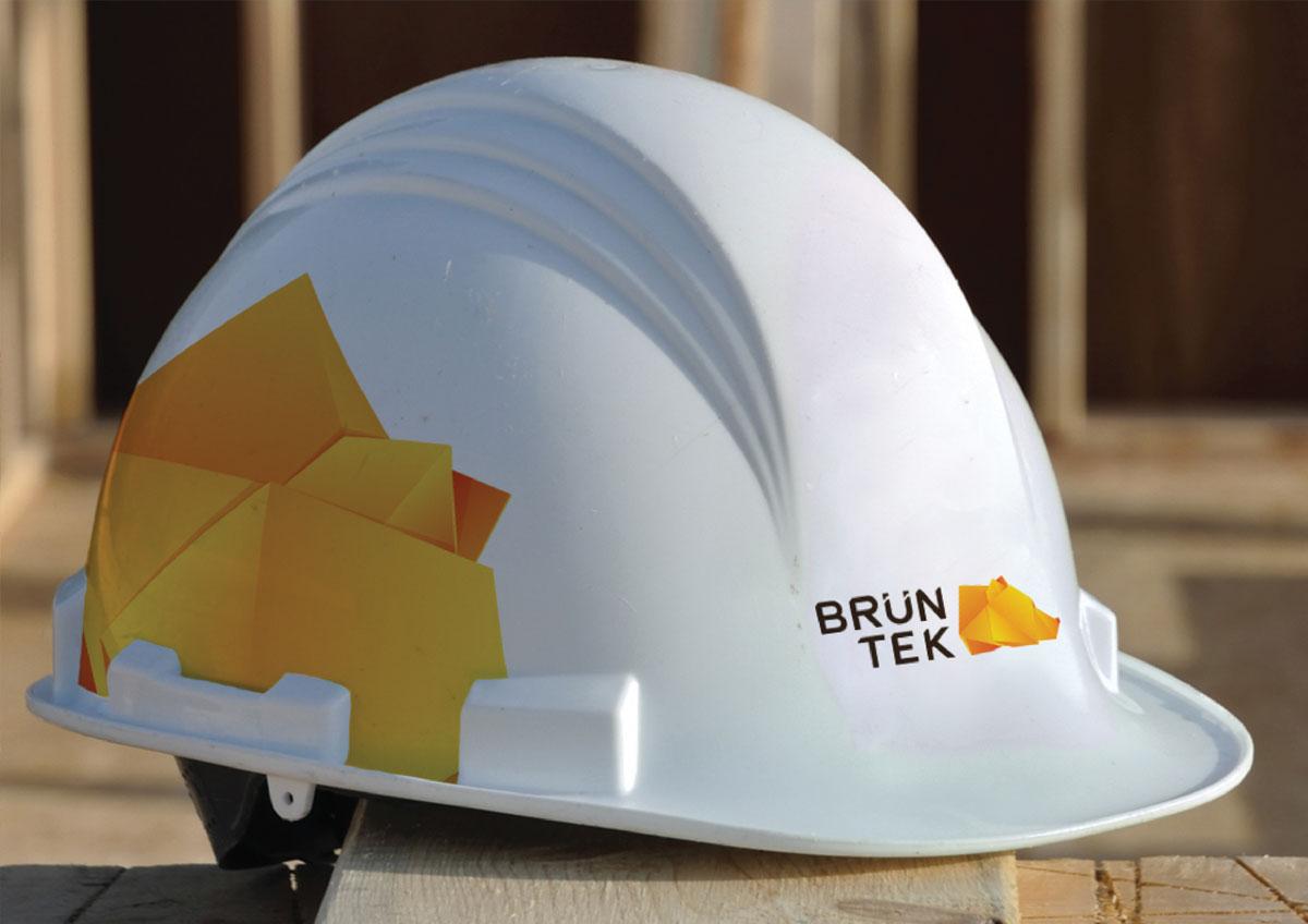 bruntek logo print casca