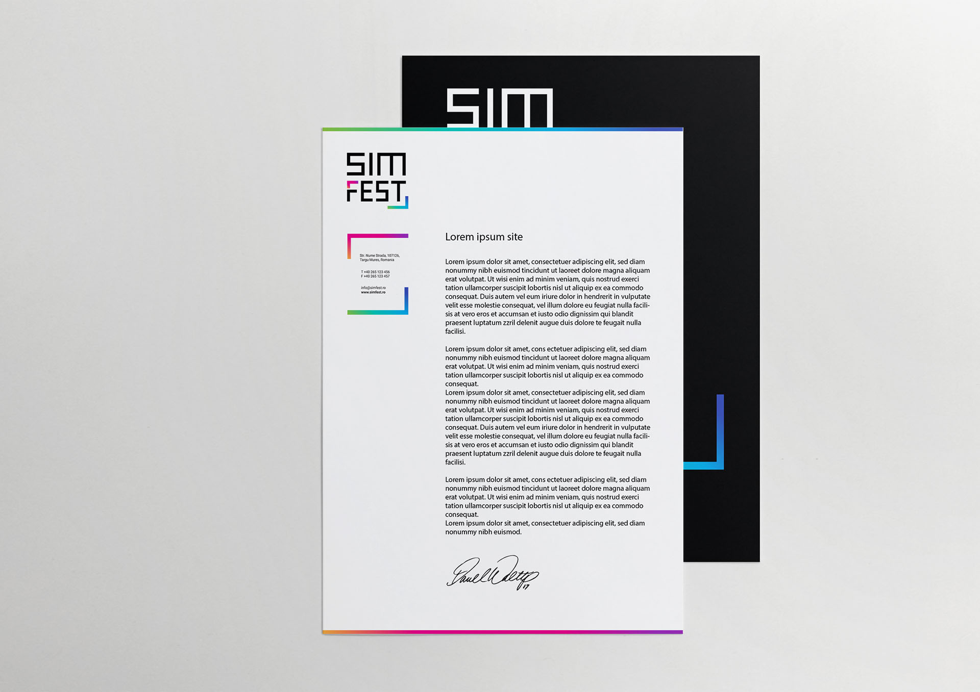 simfest stationery