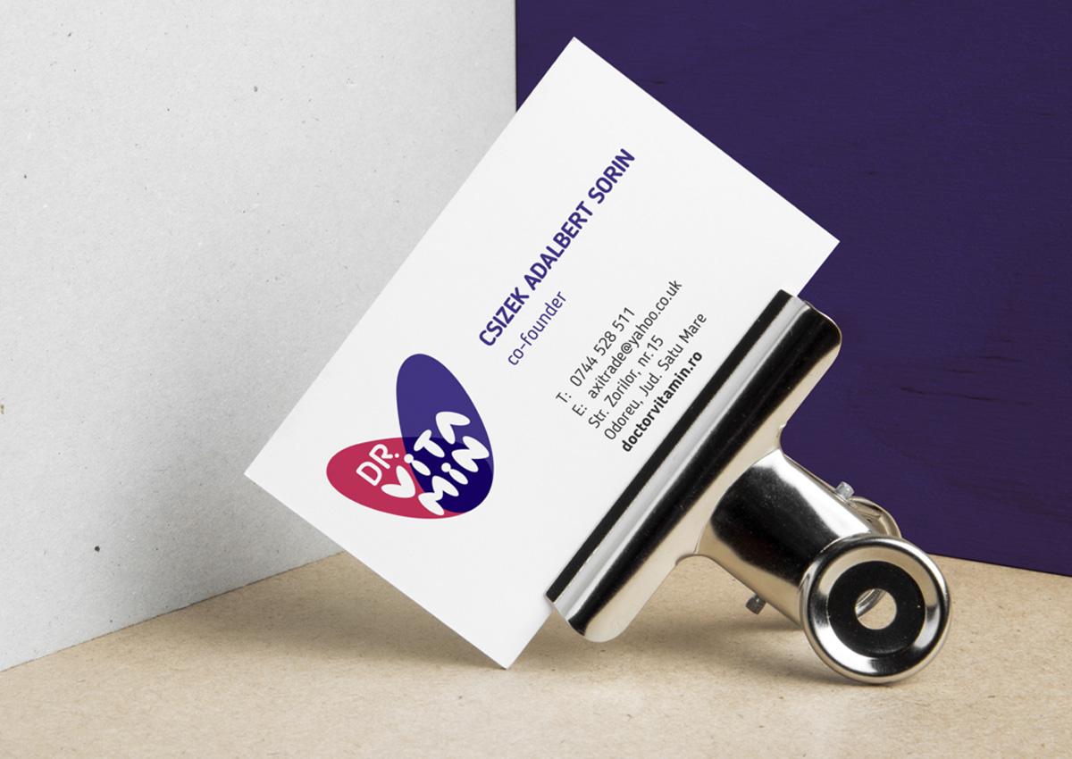 doctor vitamin carte de vizita inoveo design branding