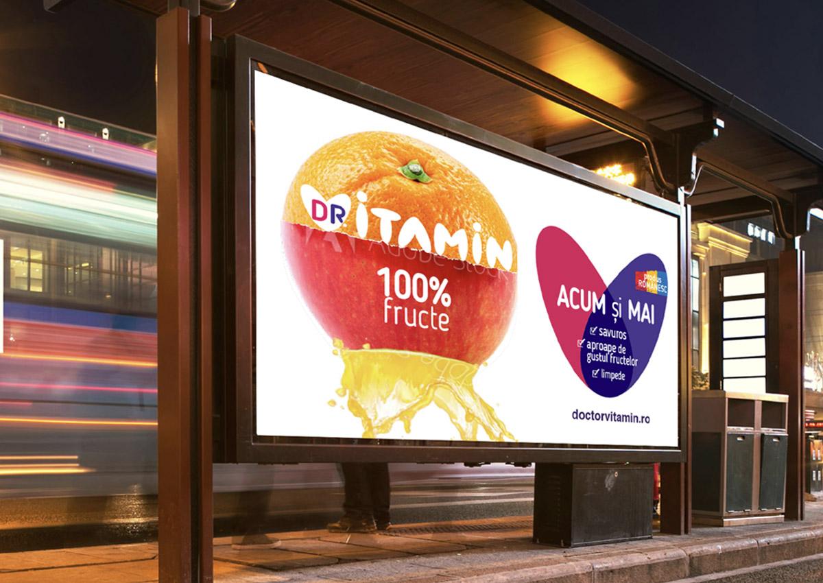 doctor vitamin panou reclama inoveo design branding