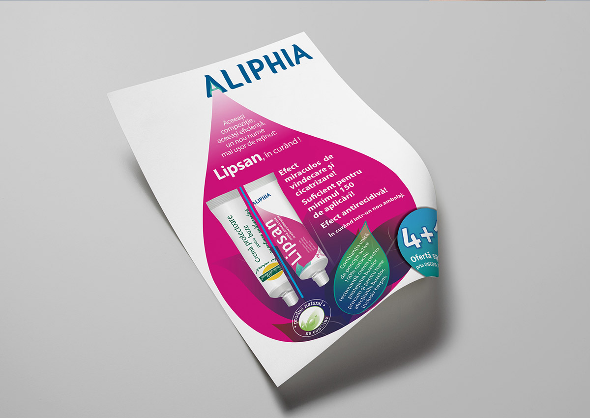 portofoliu branding aliphia flyer