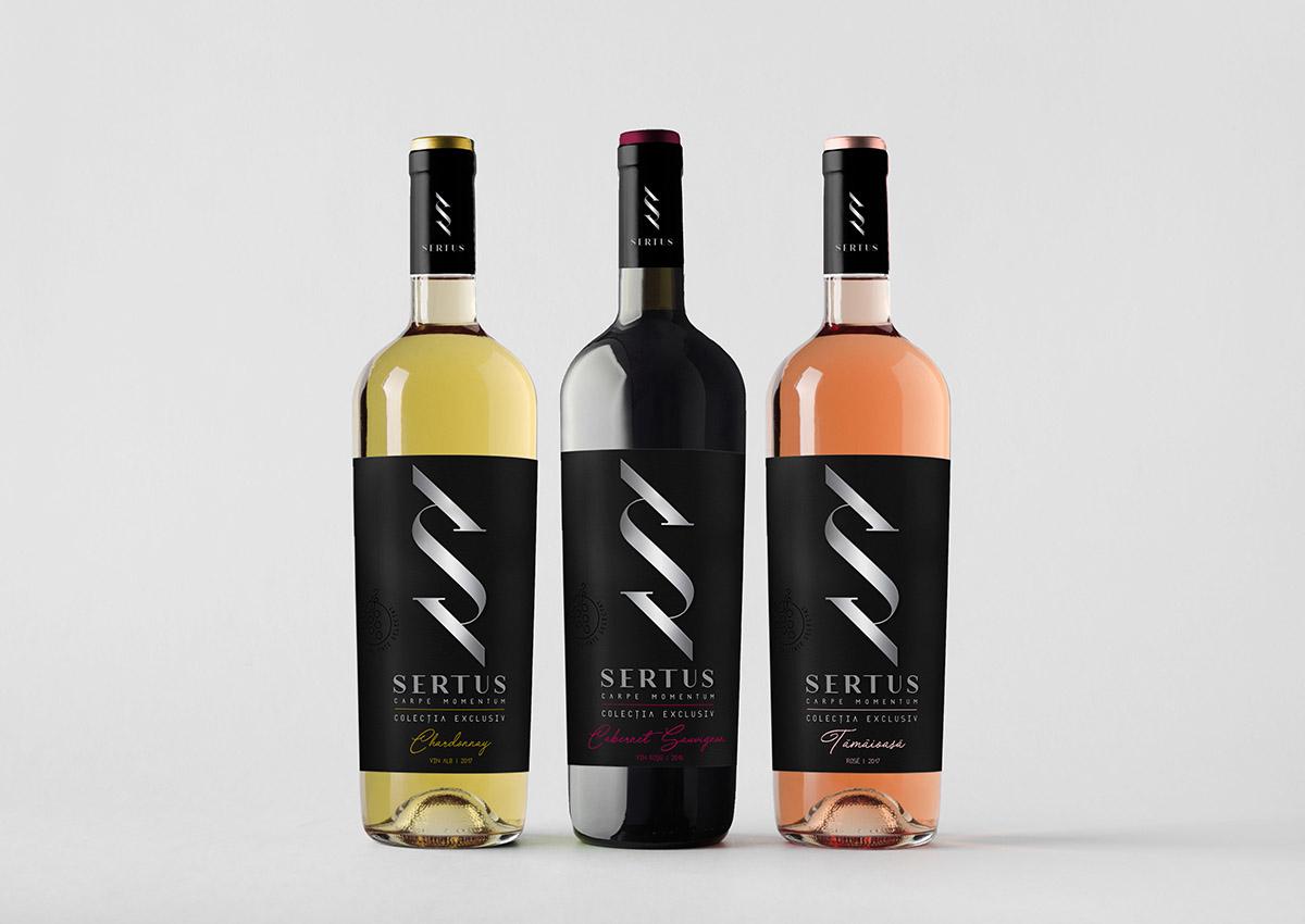 Sertus produse vin branding inoveo