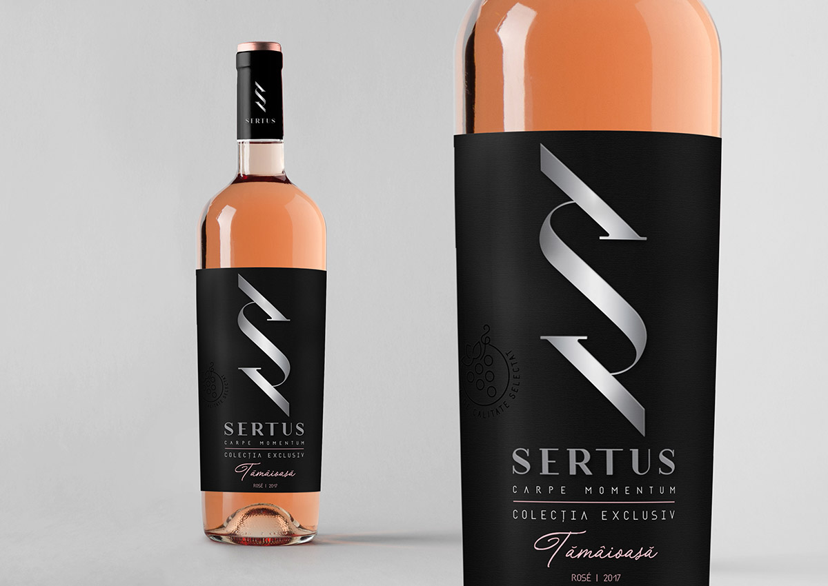 Sertus rose wine branding inoveo