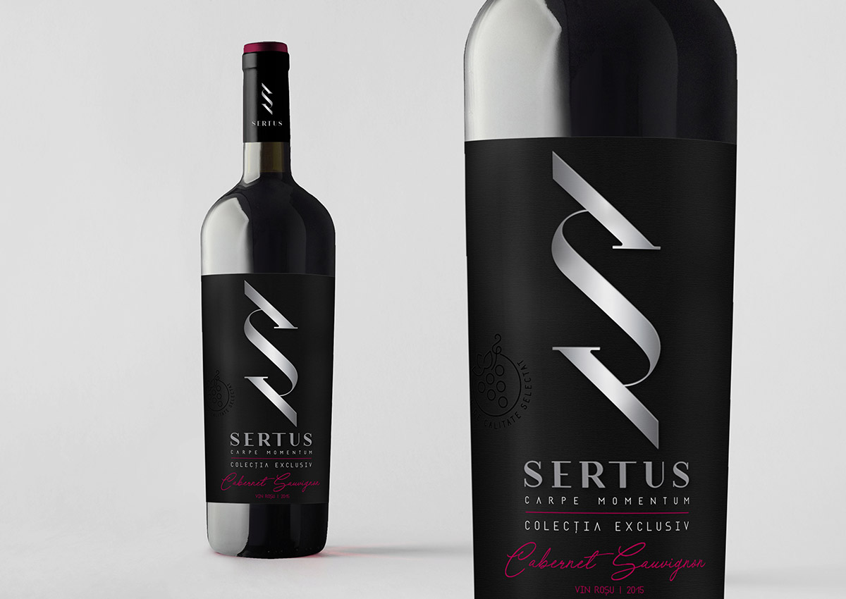 Sertus vin rosu branding inoveo