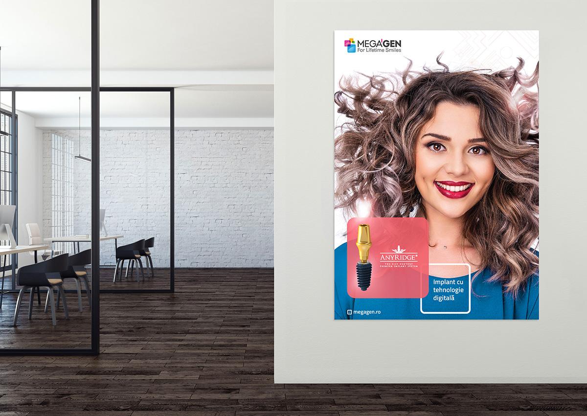 Megagen Romania afis pacienti design inoveo branding