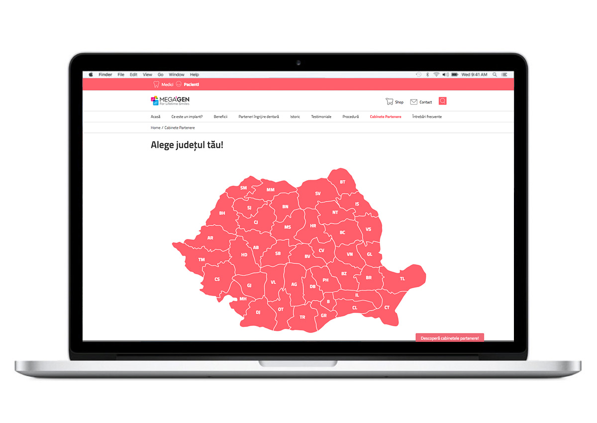 megagen romania website inoveo design branding