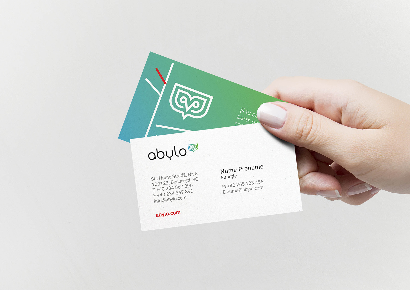abylo portofoliu inoveo Business Card