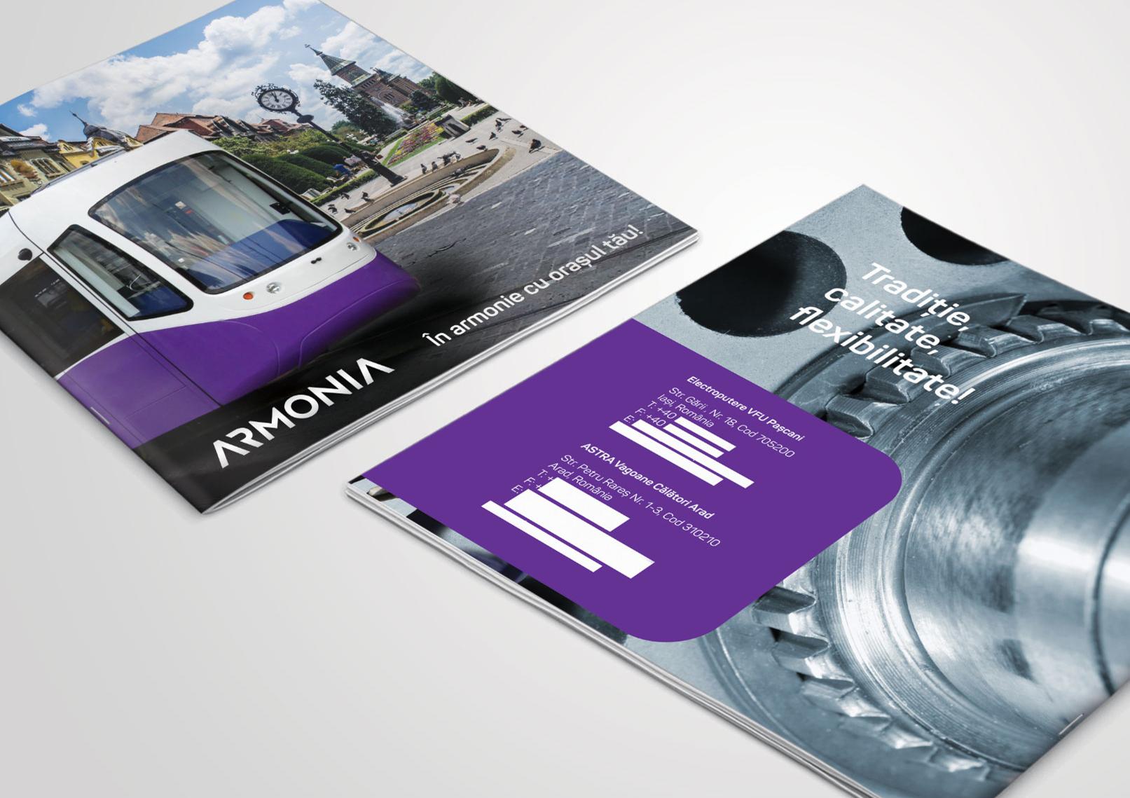 proiect design brosura armonia