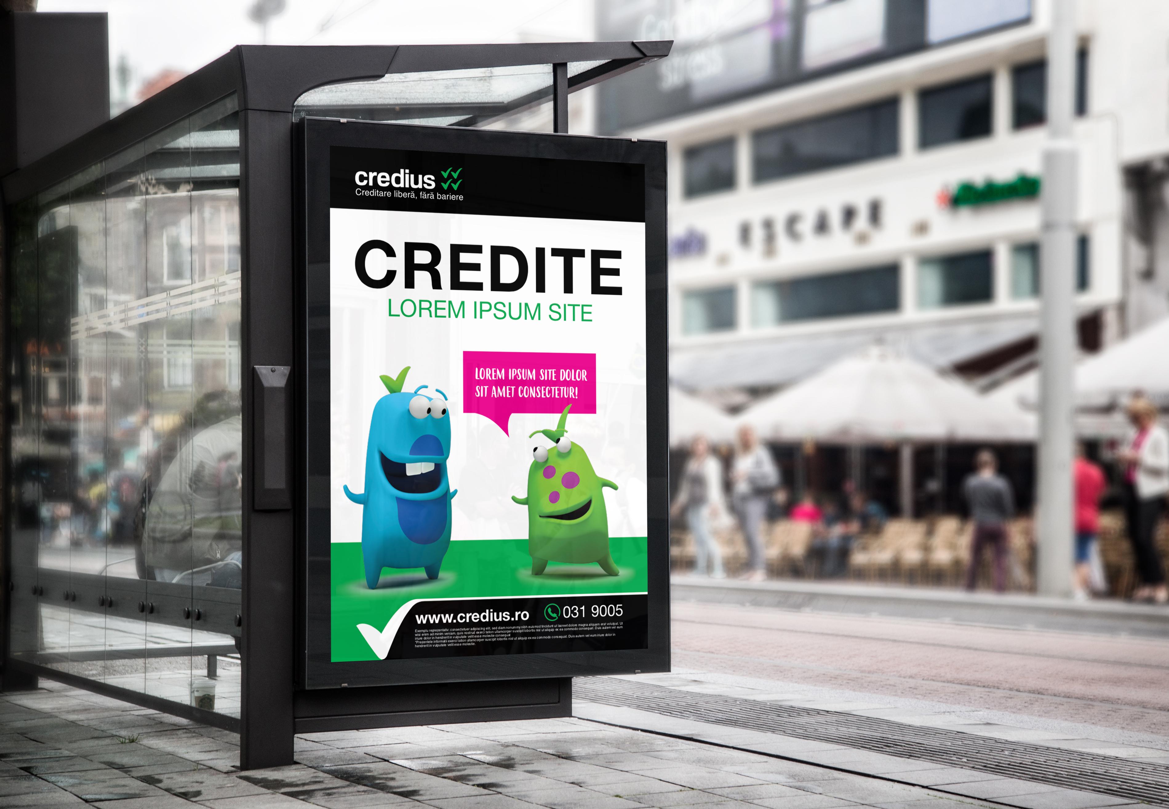 credius branding reclama autobuz