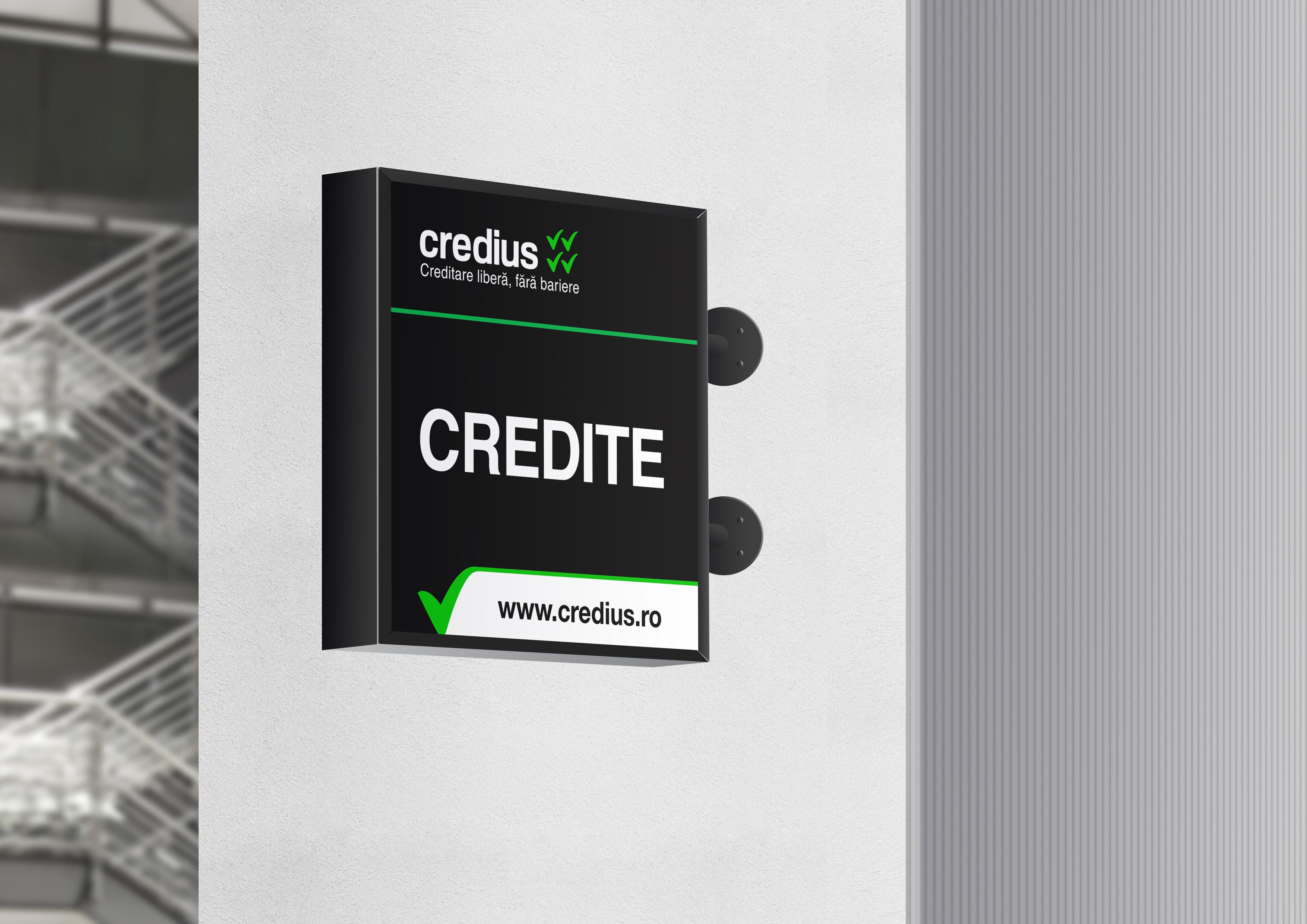credius branding caseta luminoasa