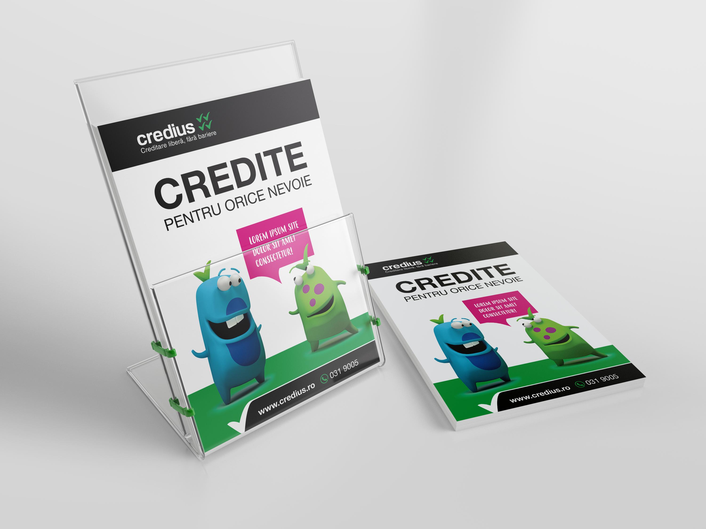 credius branding leaflet holder