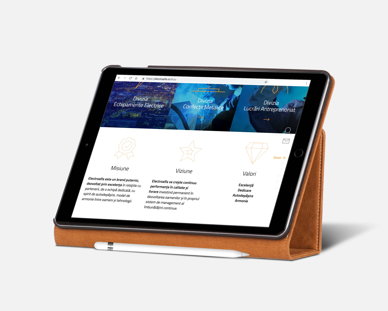 electroalfa portfolio inoveo website iPad Pro