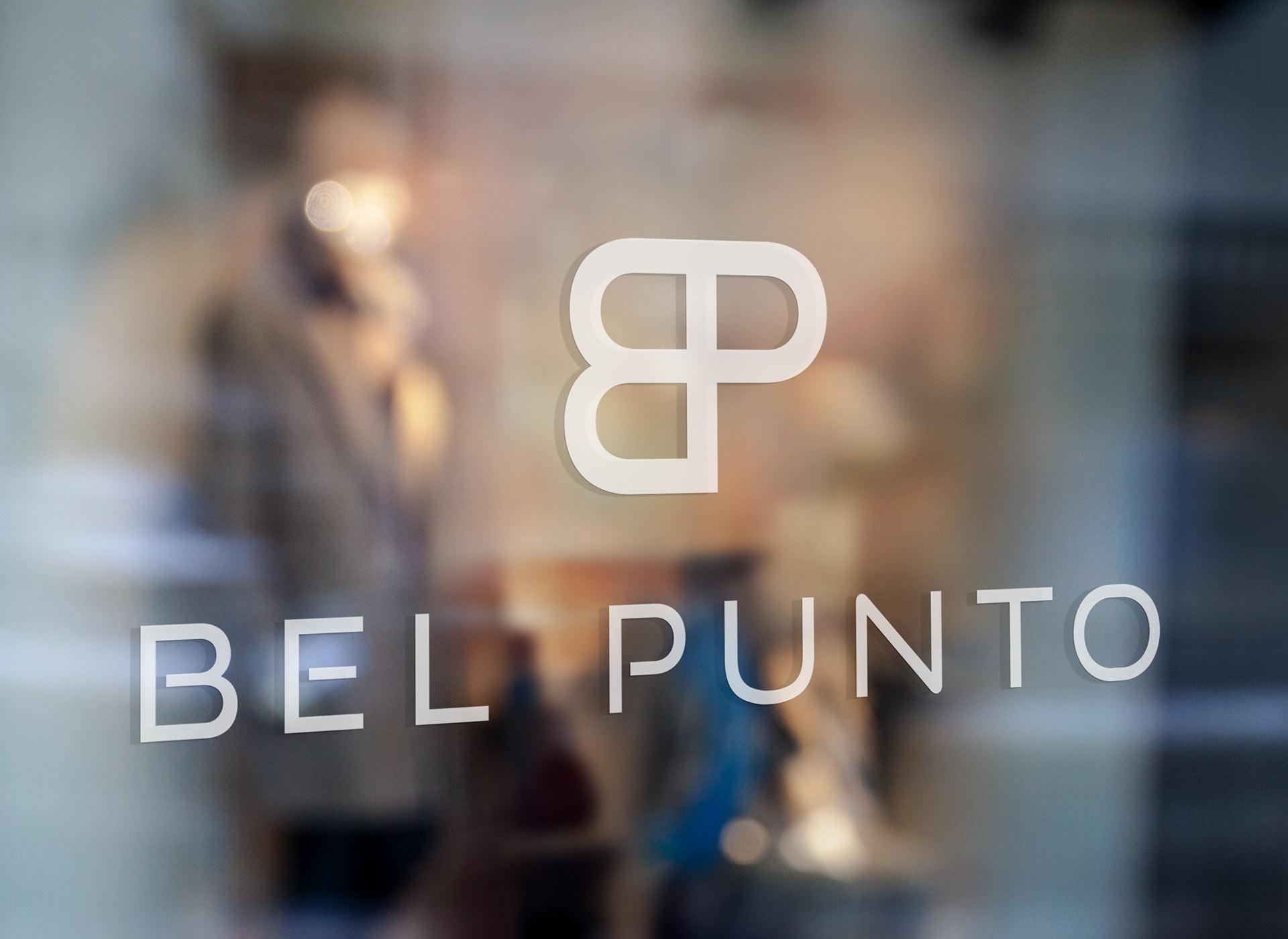 bel punto logo glass