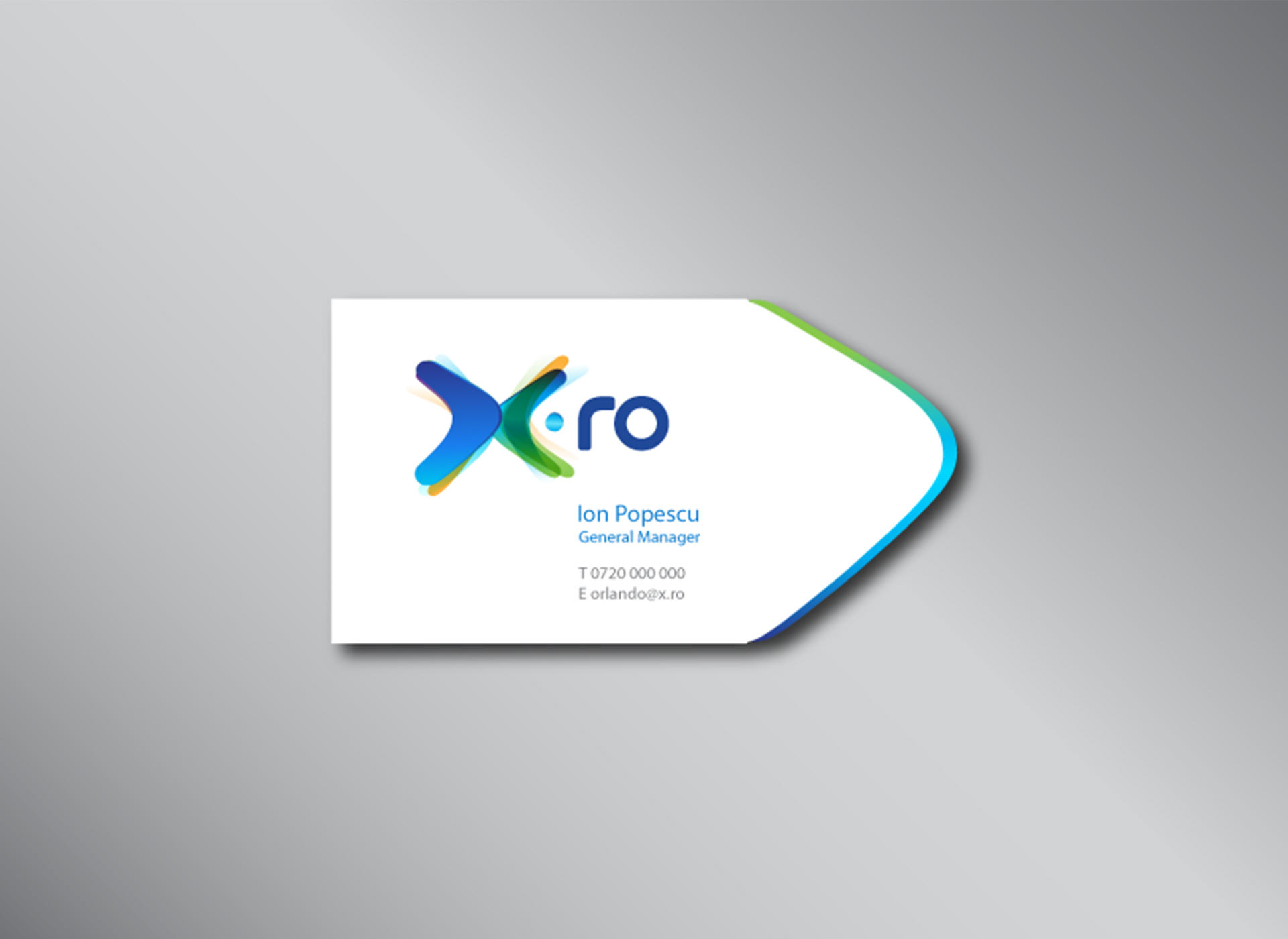 X.ro portfolio inoveo business card
