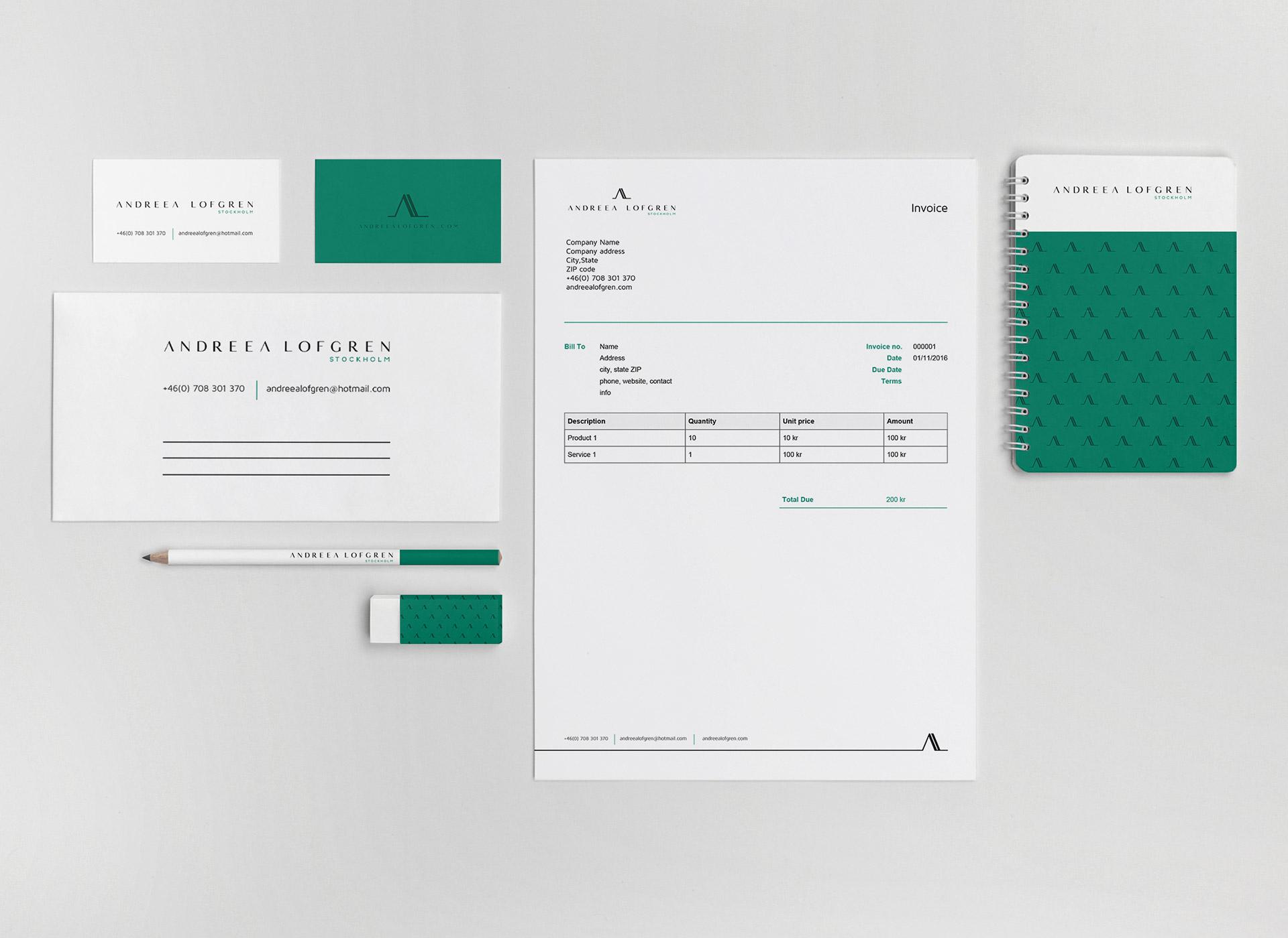 Andreea Lofgren portfolio inoveo stationery