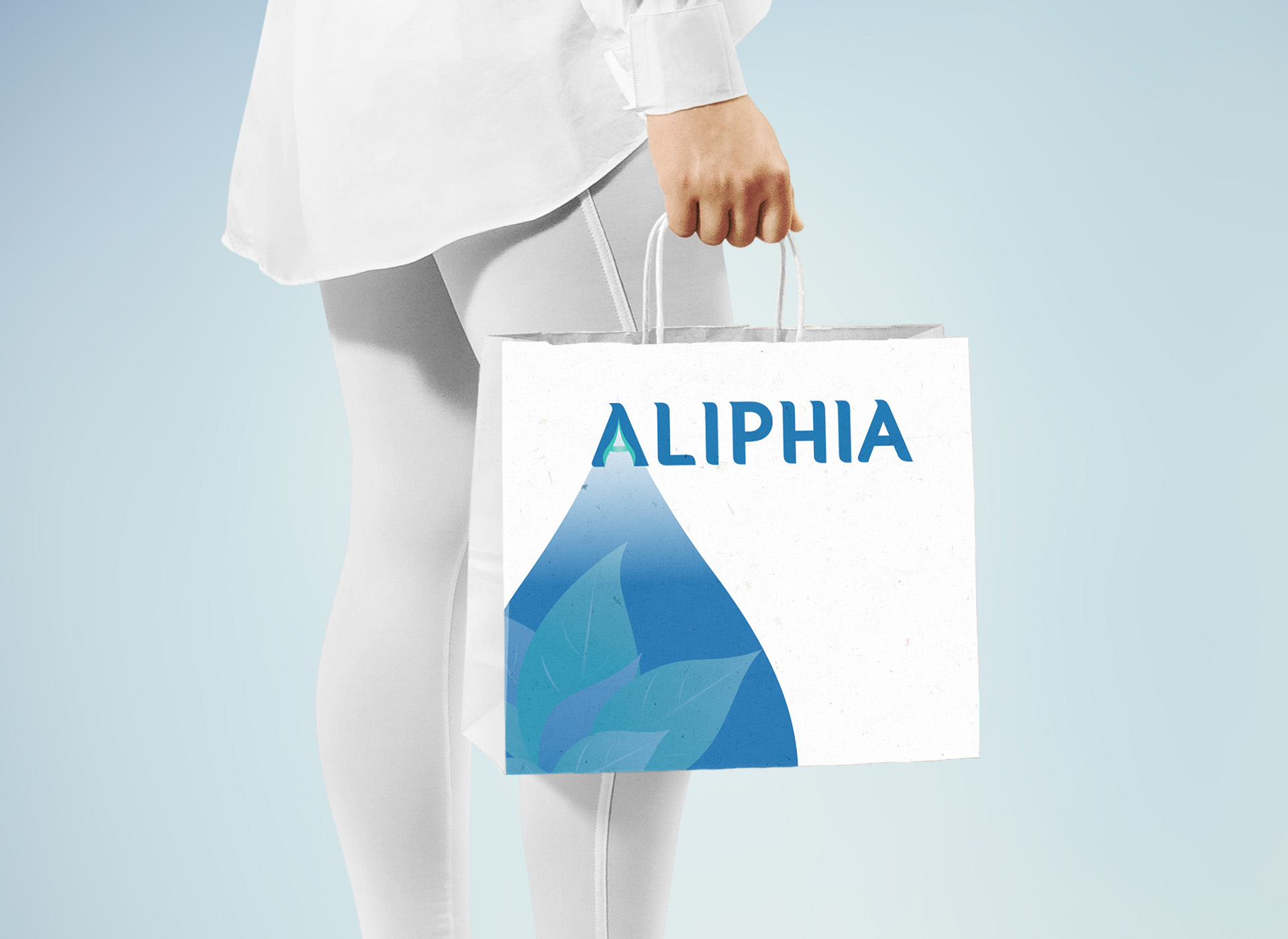 portofoliu branding aliphia bag