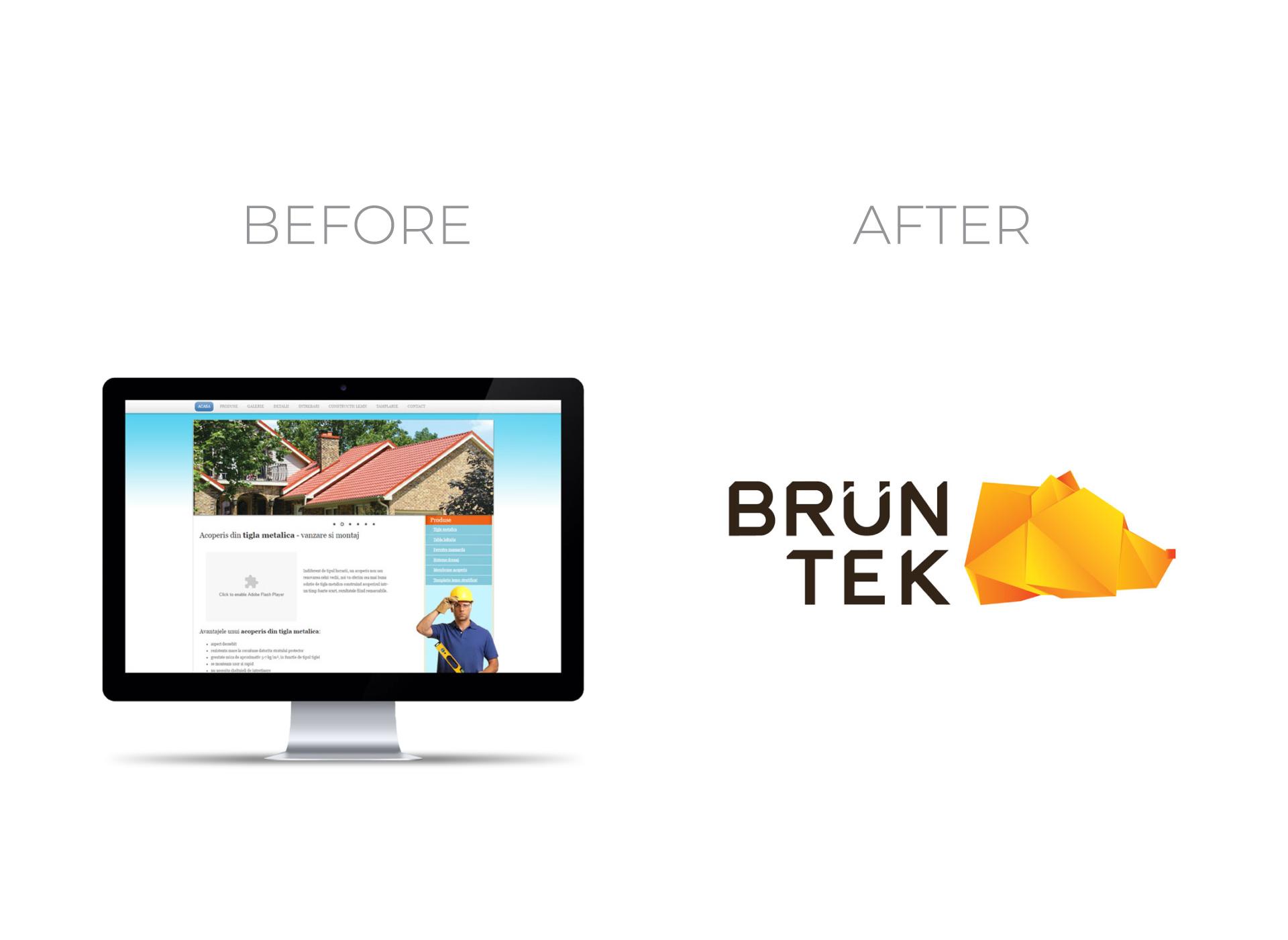 bruntek portfolio inoveo before and after rebranding