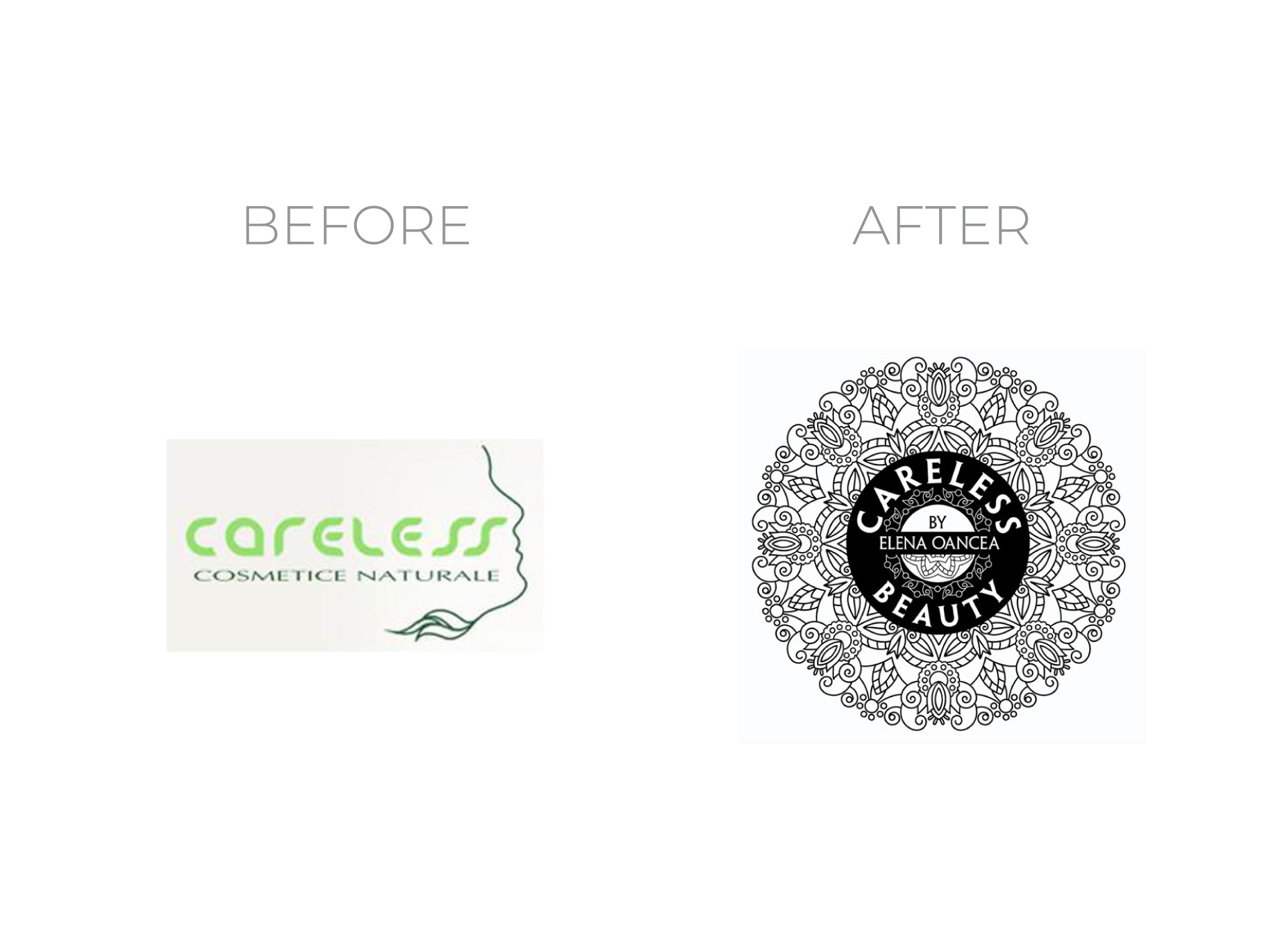 careless beauty portfolio inoveo before and after rebranding