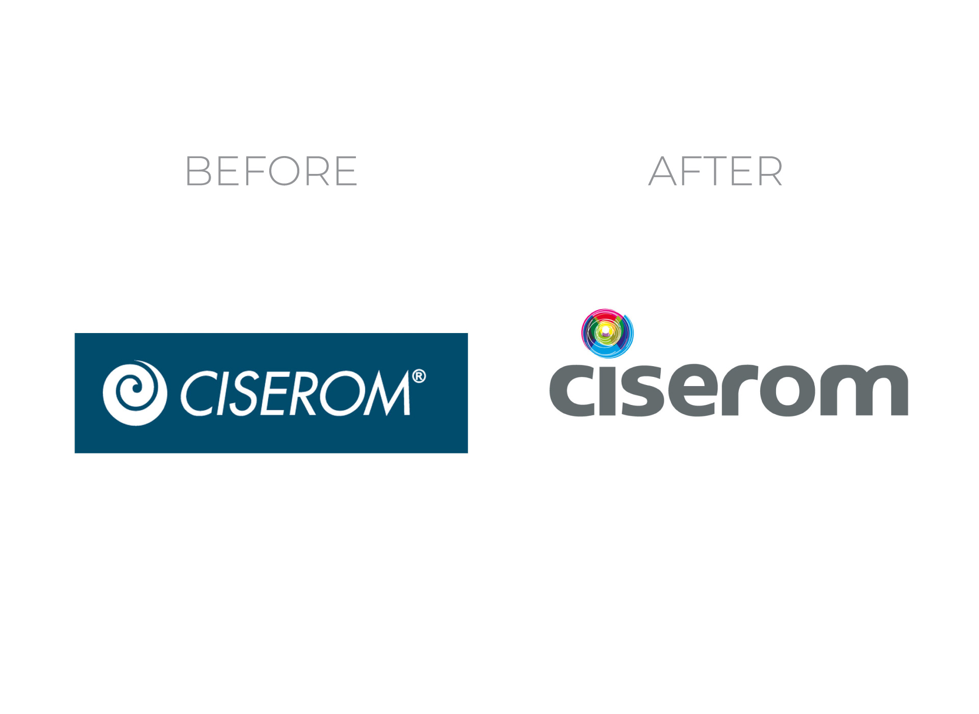 ciserom portfolio inoveo before and after rebranding