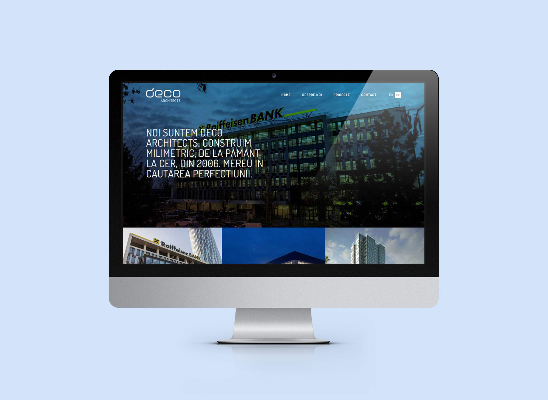 deco architects webdesign rebranding