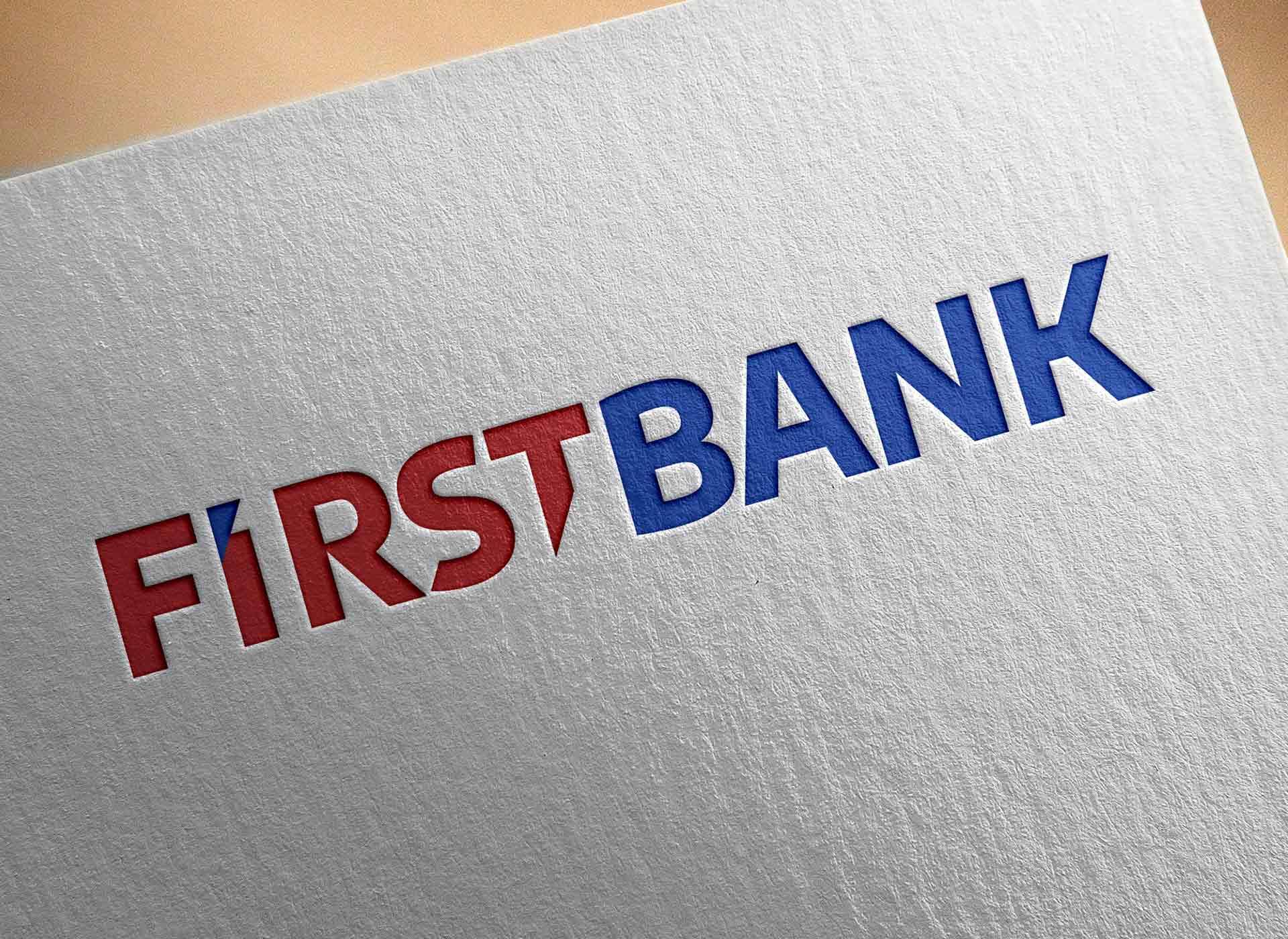 first bank portofoliu inoveo logo deboss