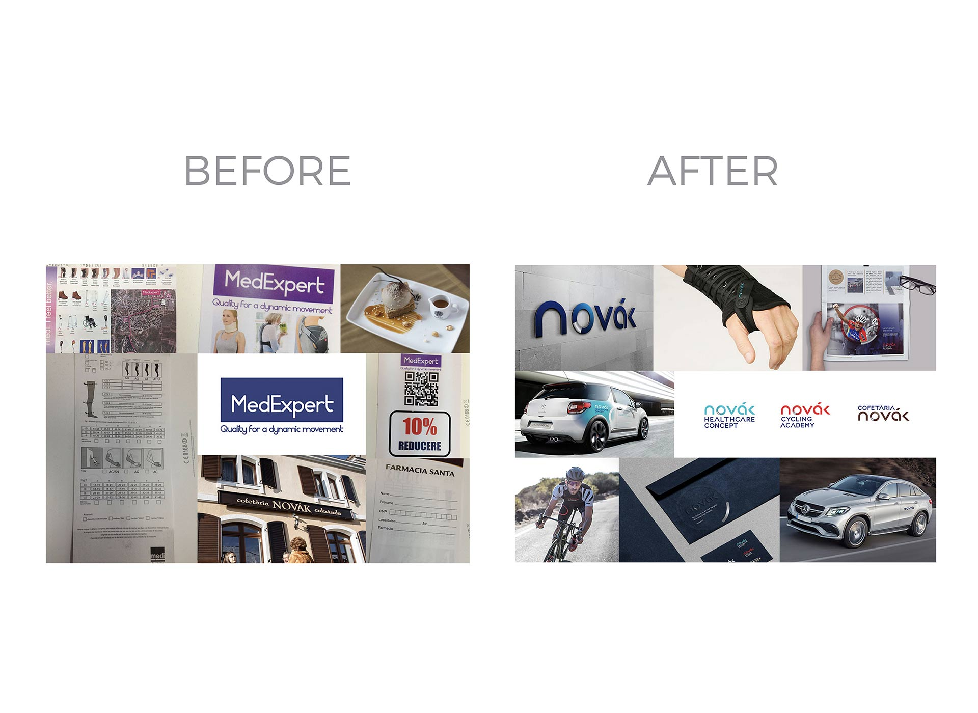 novak portfolio before and after rebranding