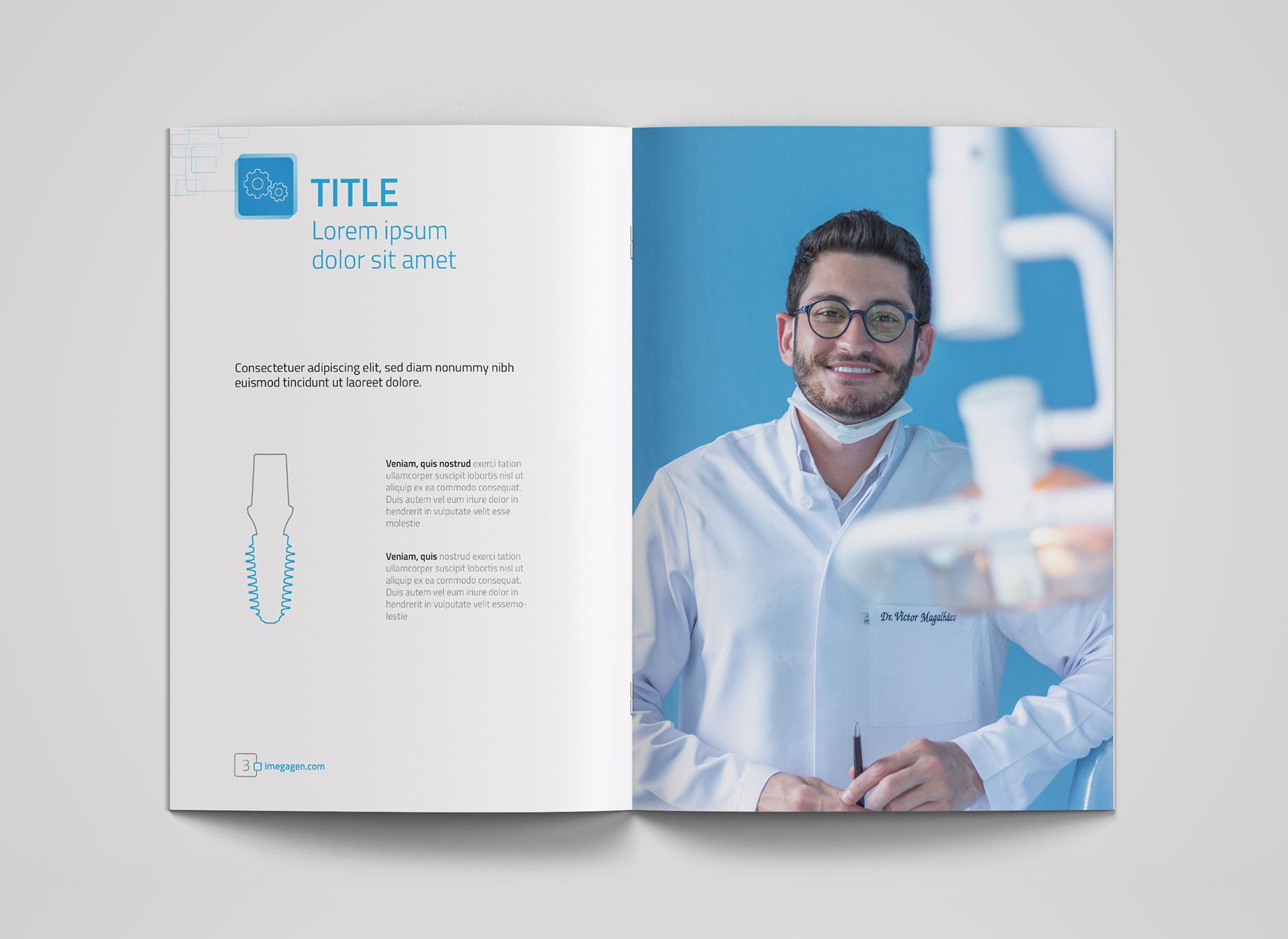 Megagen Koreea medical brochure portfolio inoveo