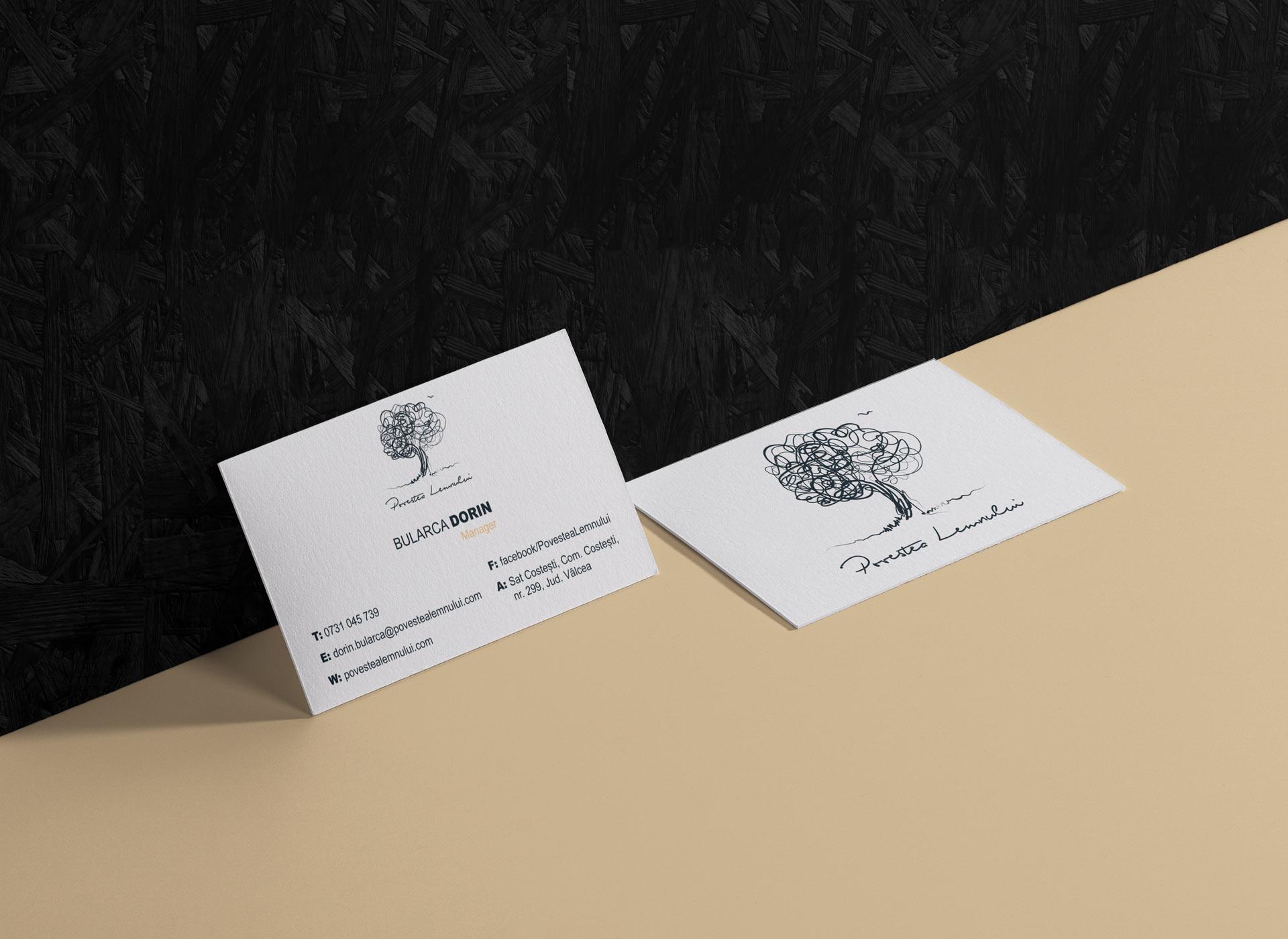 Povestea Lemnului Portfolio Inoveo business card