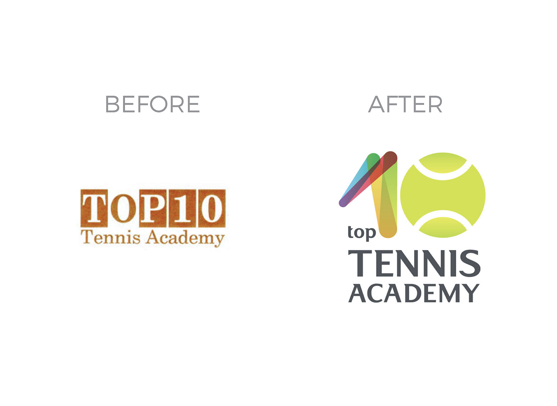 top 10 tennis portfolio before and after rebranding