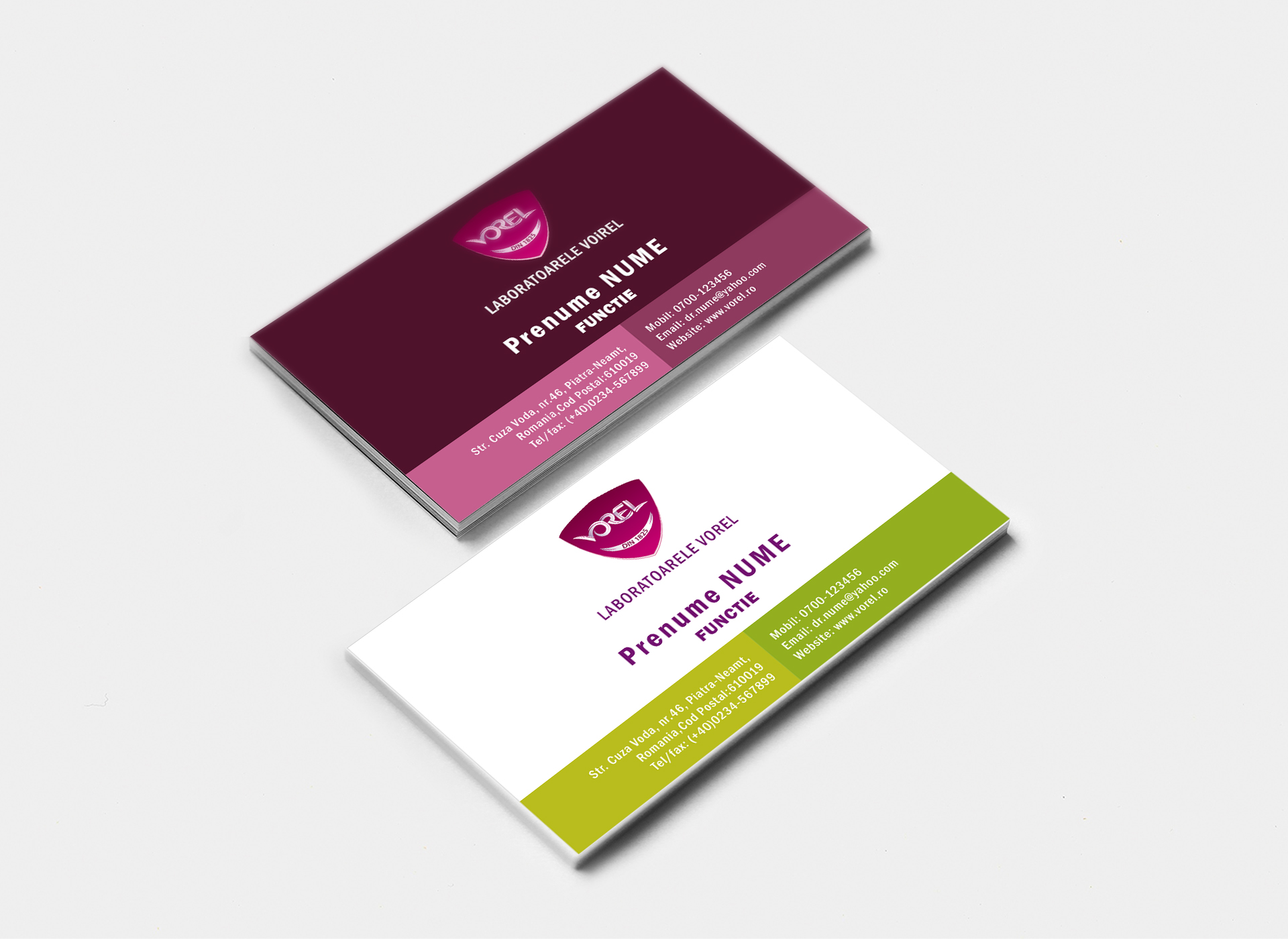 laboratoarele vorel inoveo portfoliu business card design