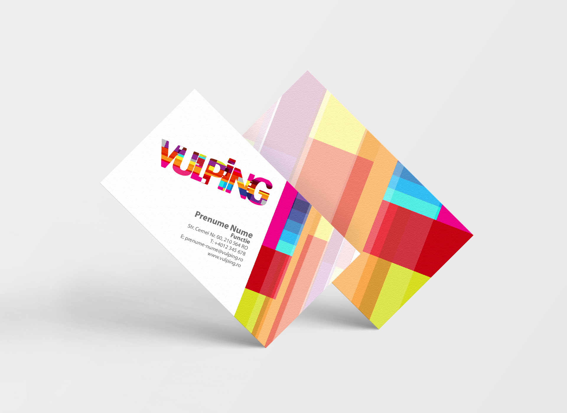vulping branding by inoveo business cards
