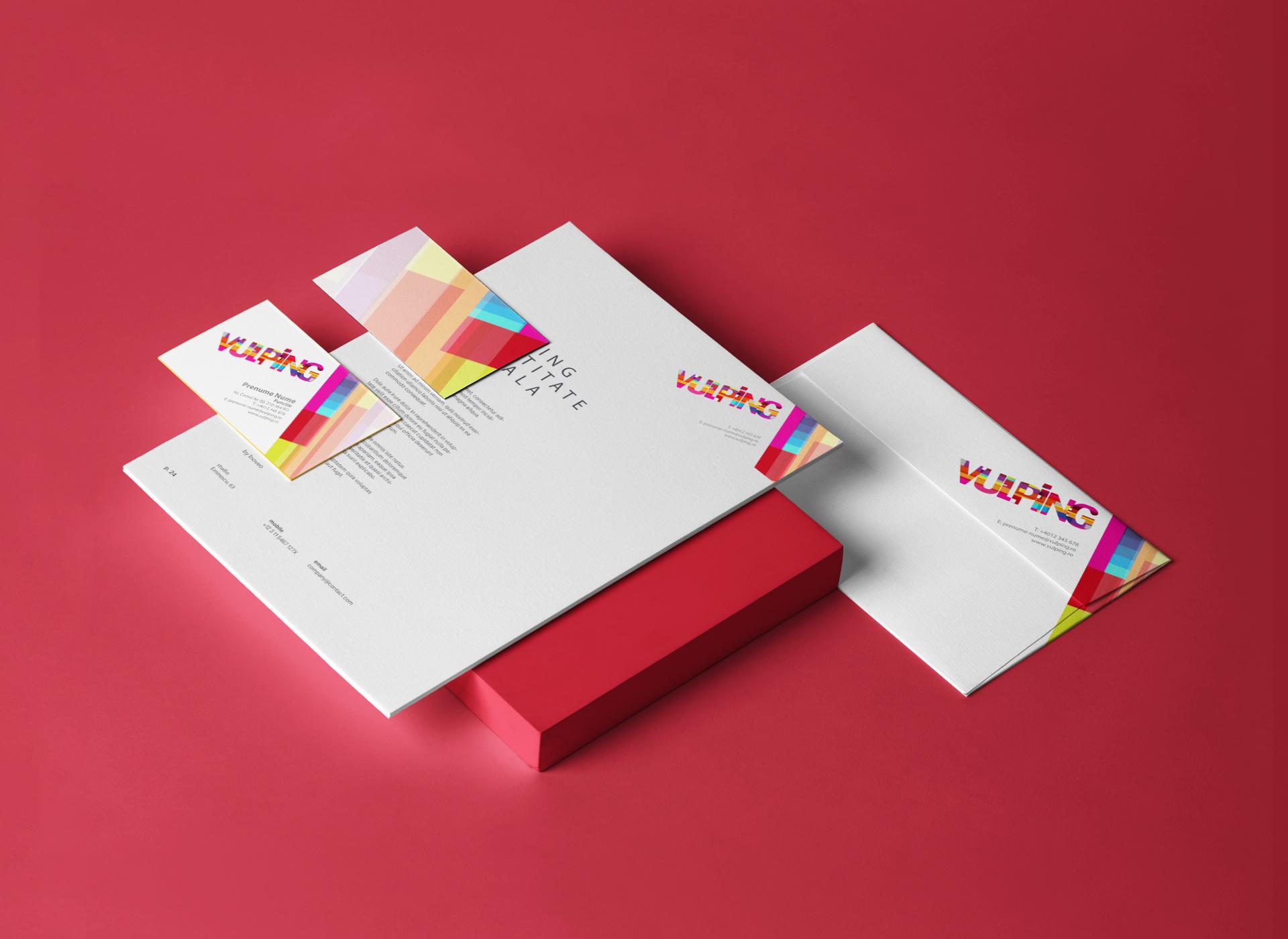 vulping branding by inoveo stationery