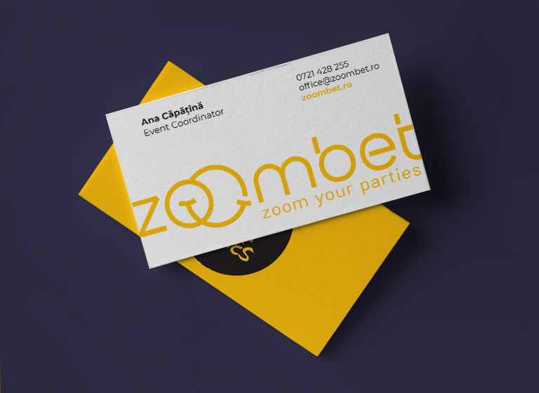zoombet Business Card portfolio design by inoveo