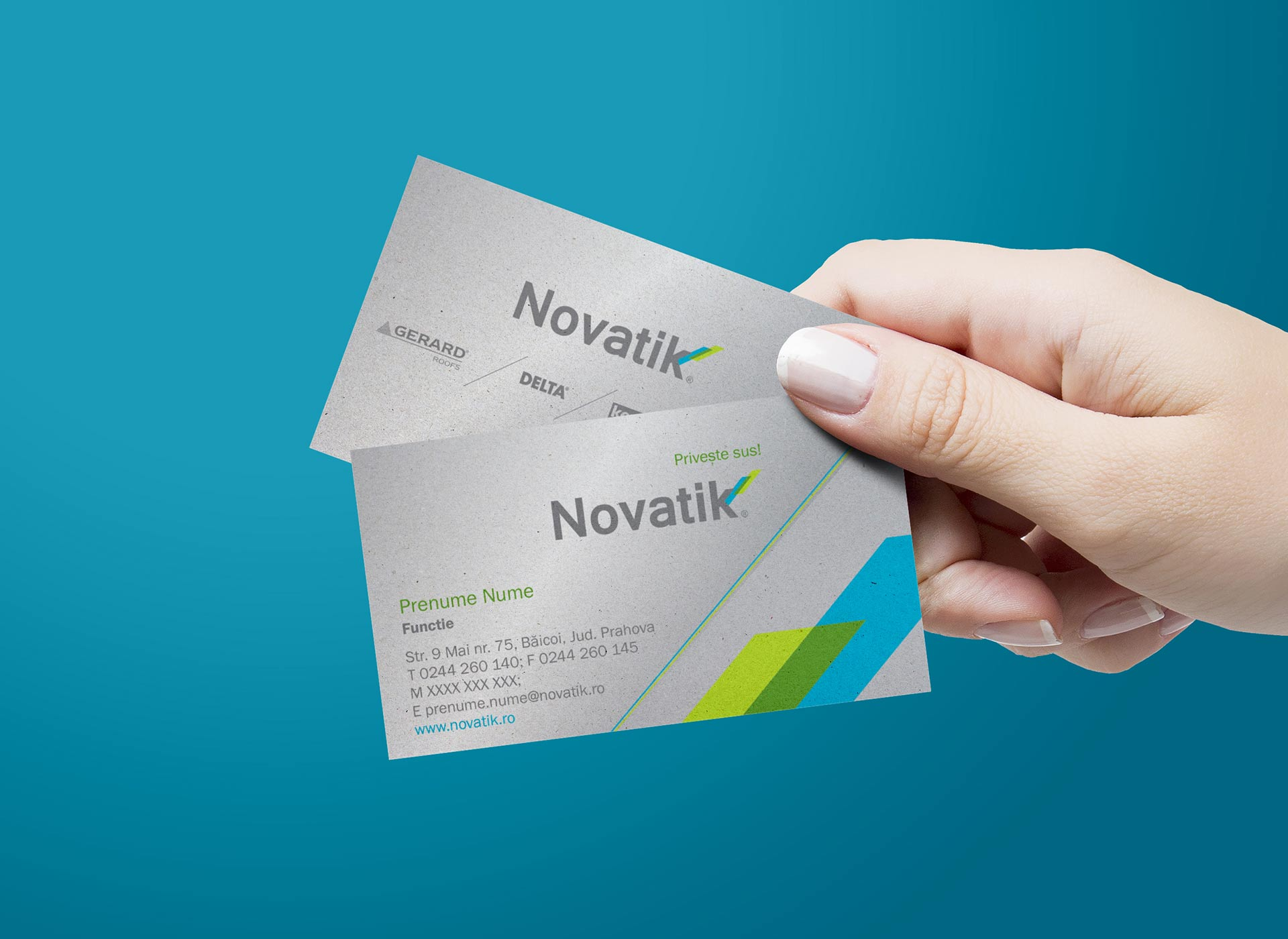 novatik portofoliu branding business card