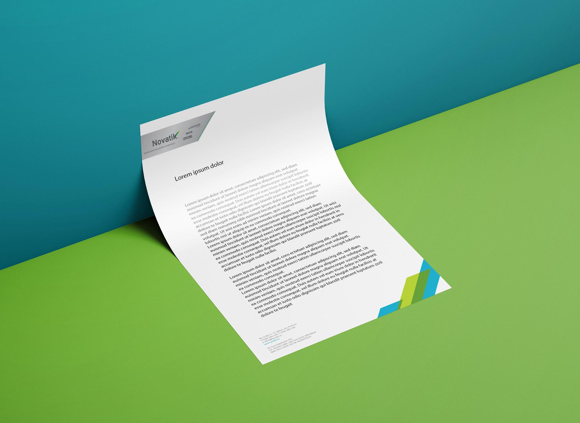 novatik portofoliu branding letterhead
