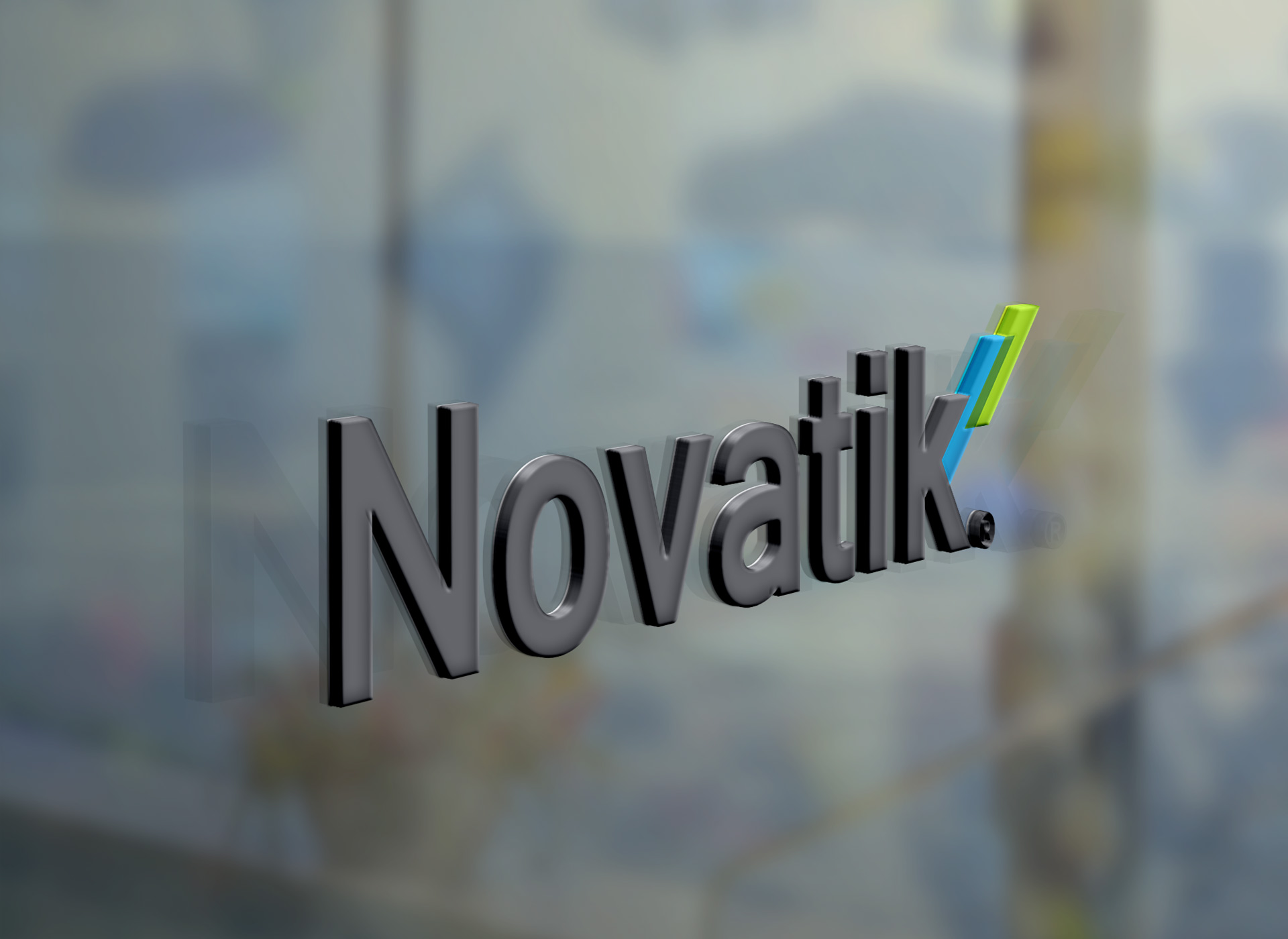 novatik portofoliu branding window logo