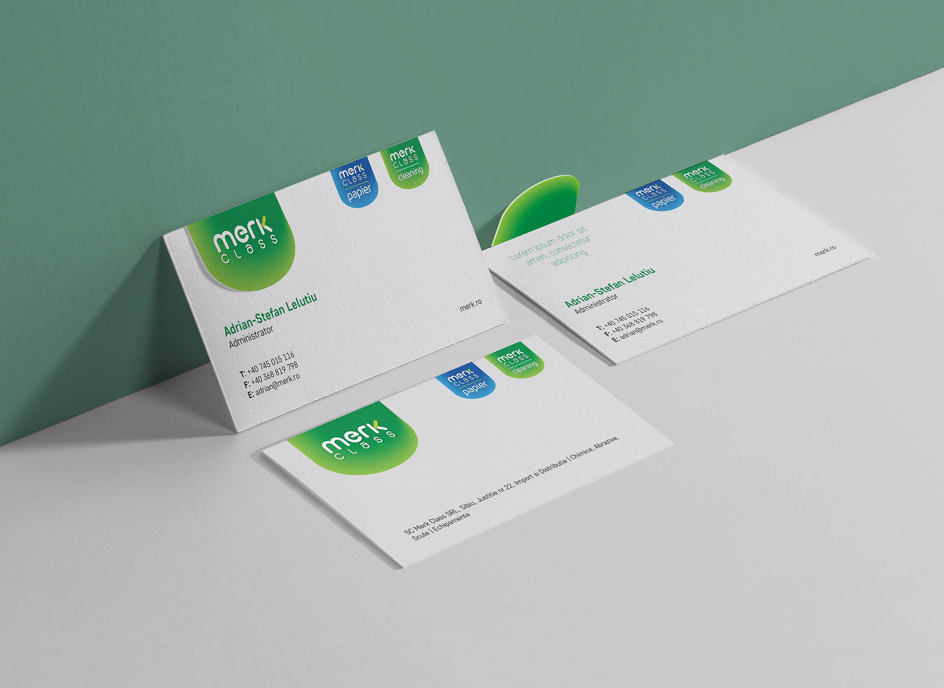merk class portfolio inoveo business card