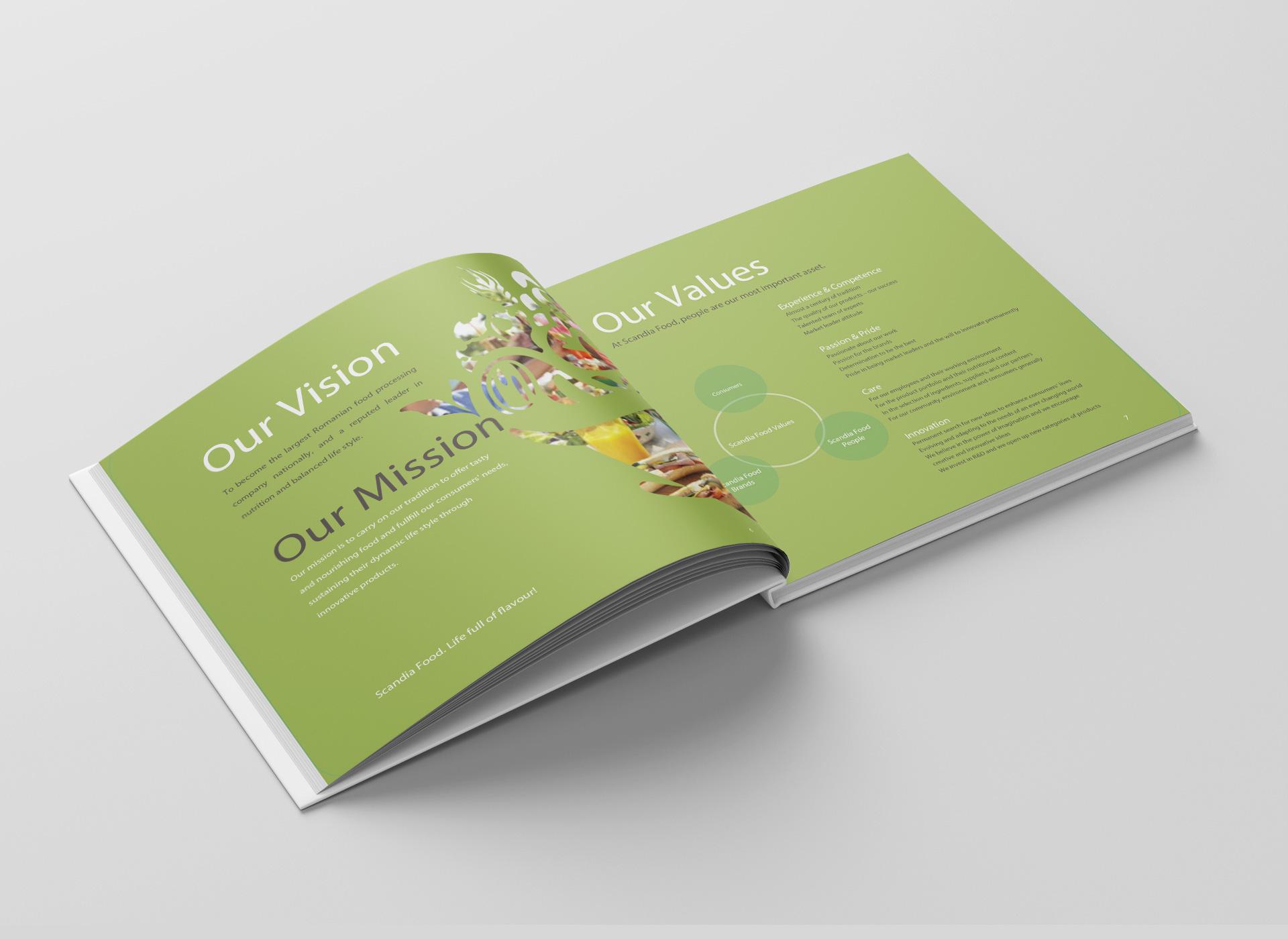 scandia food rebranding brochure