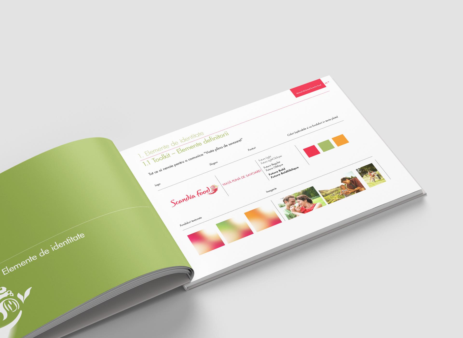 scandia food rebranding brand book