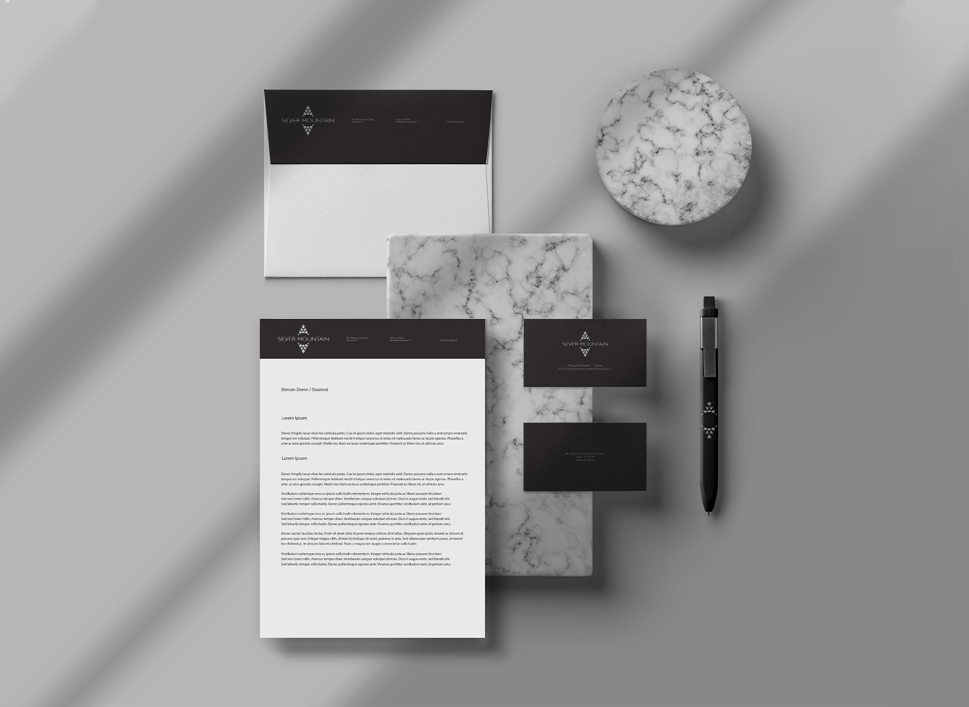 Silver Mountain portfolio inoveo stationery