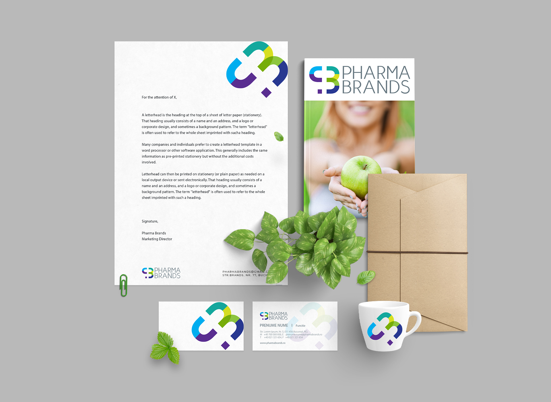 pharma brands stationery portofoliu inoveo