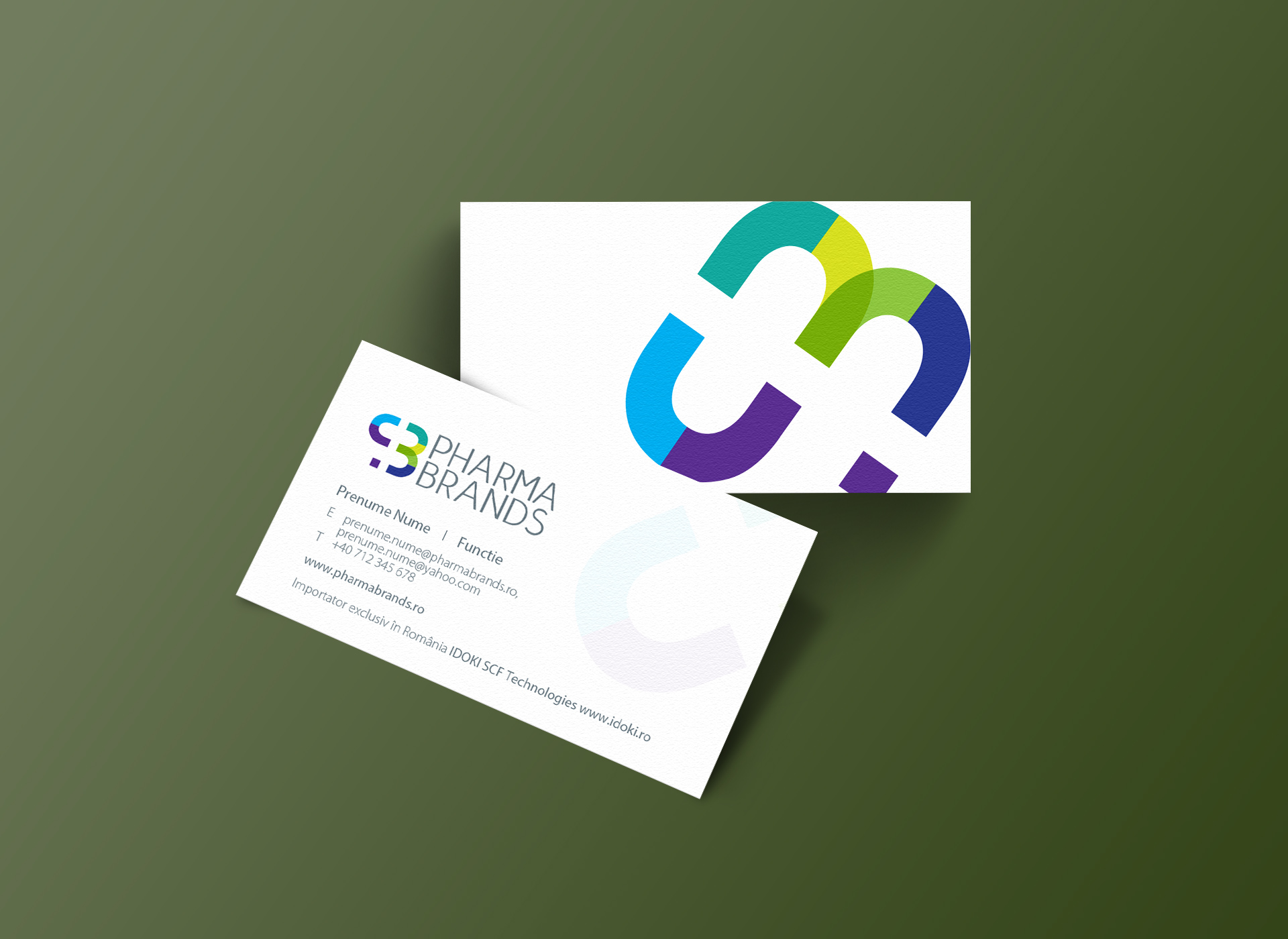 pharma brands business cards portofoliu inoveo