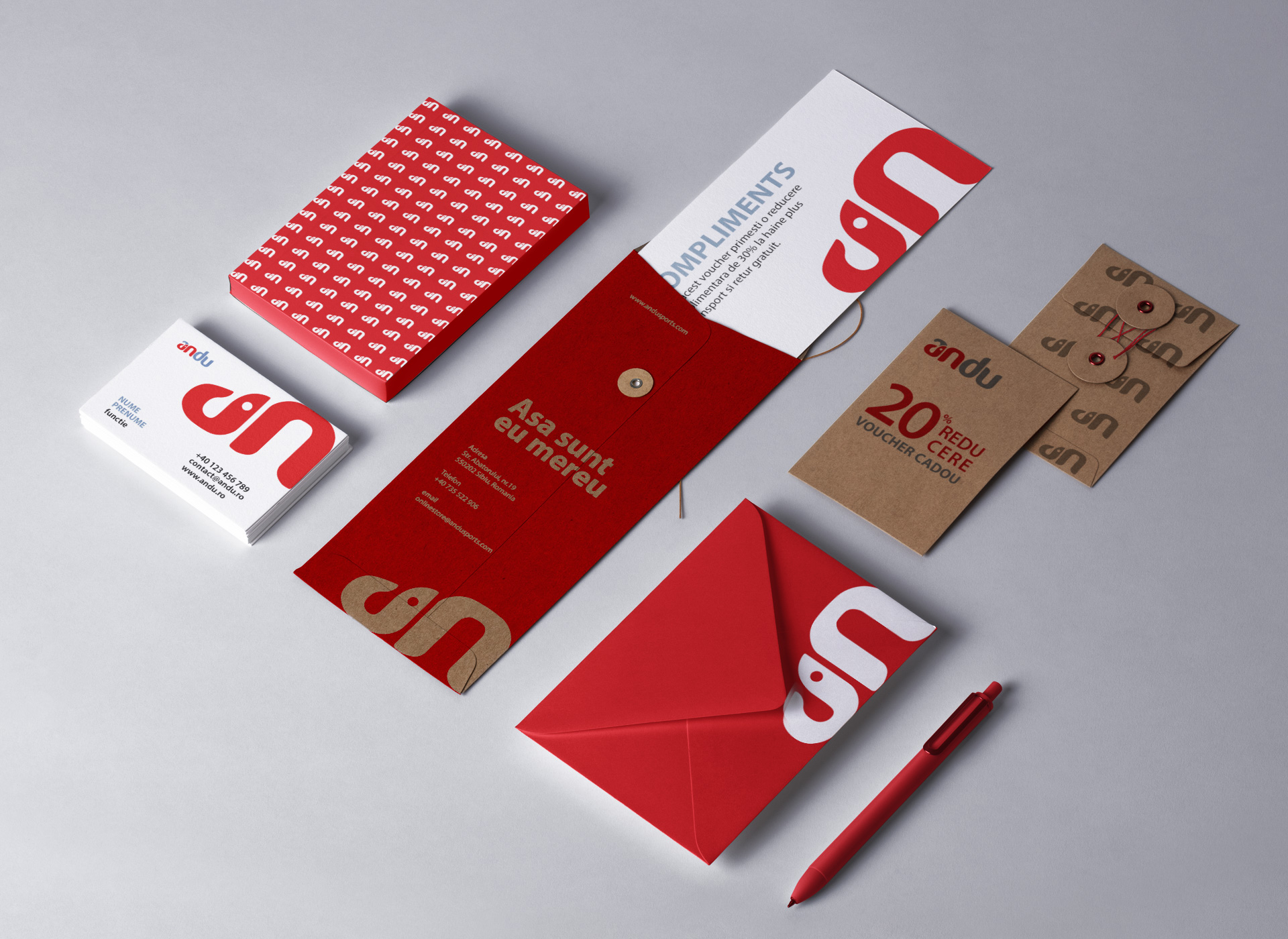 rebranding andu stationary