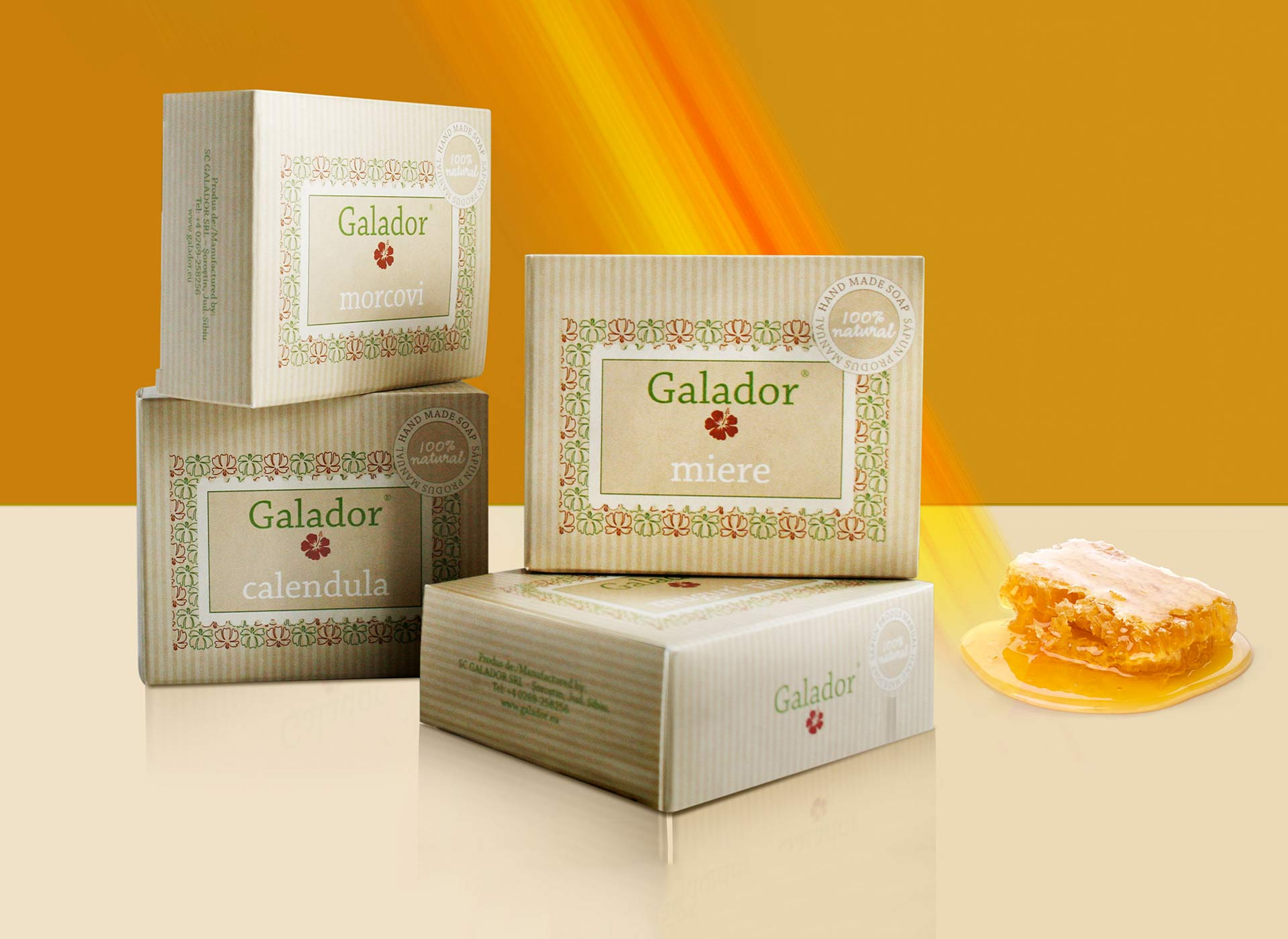 galador package design brand