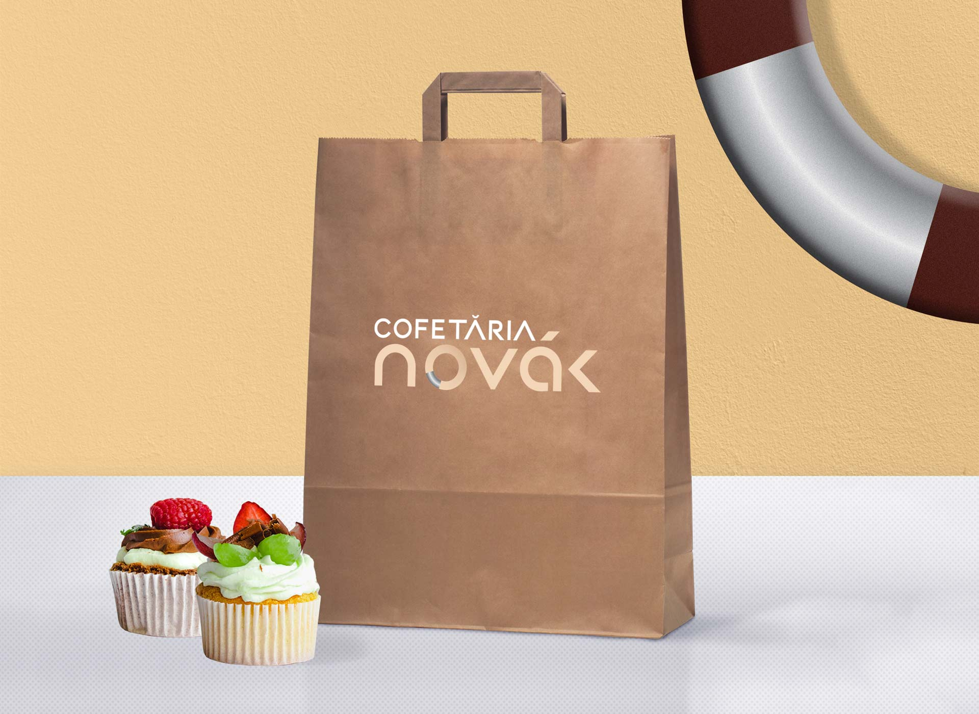 novak paper bag branding
