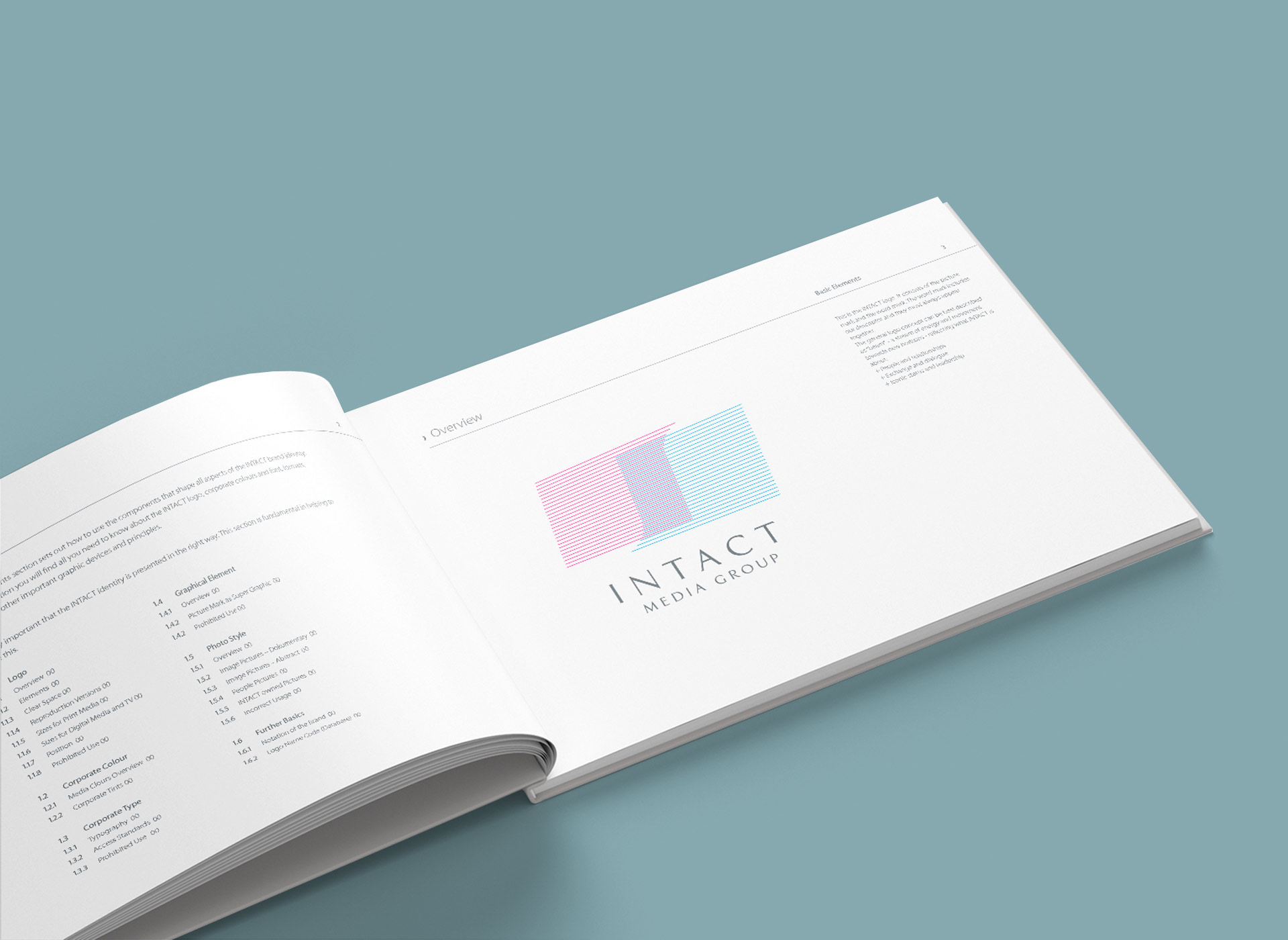 Intact Media Group portfolio inoveo brand book